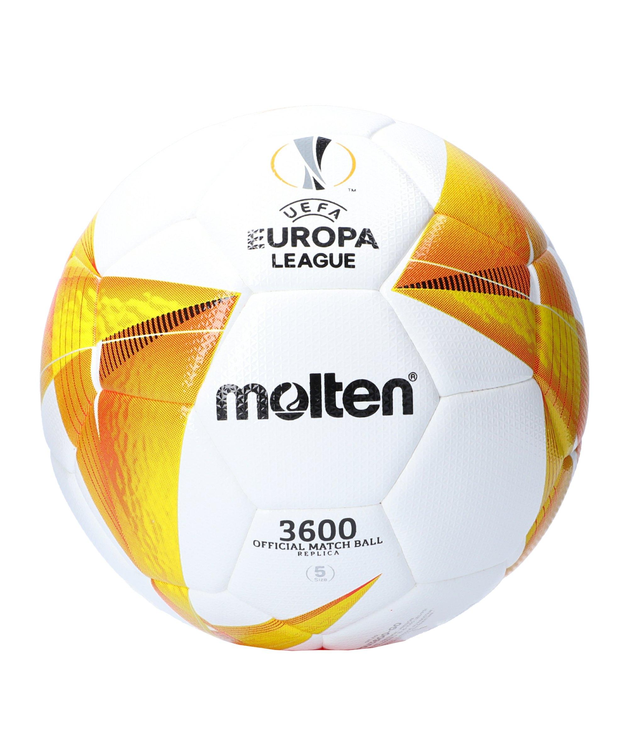 Molten Europa League 20/21 Trainingsball Weiss - weiss