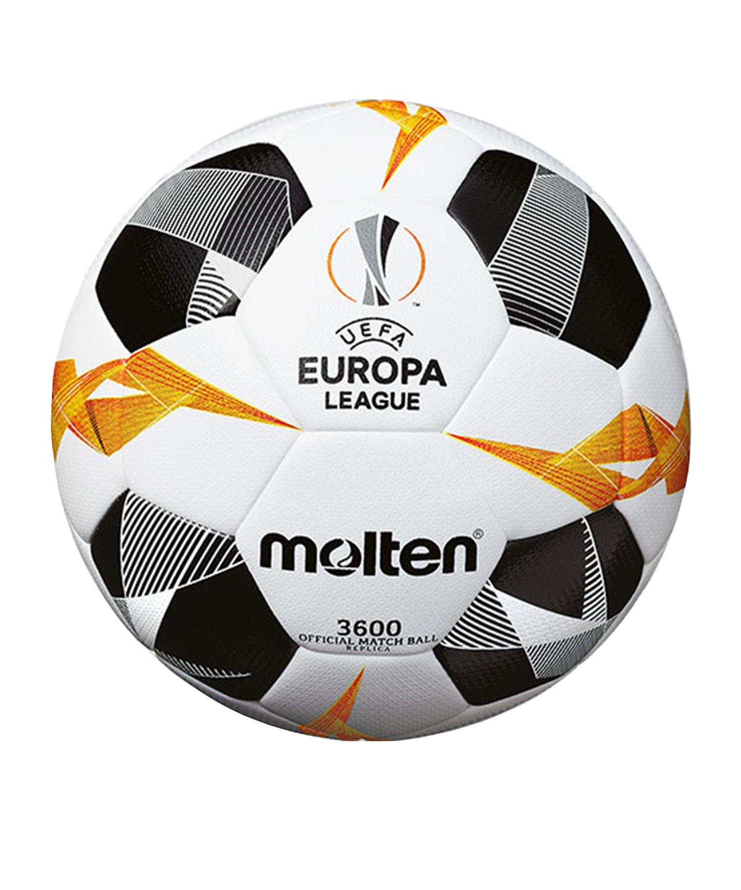 Molten Europa League Ball Replika 19/20 Weiss - weiss