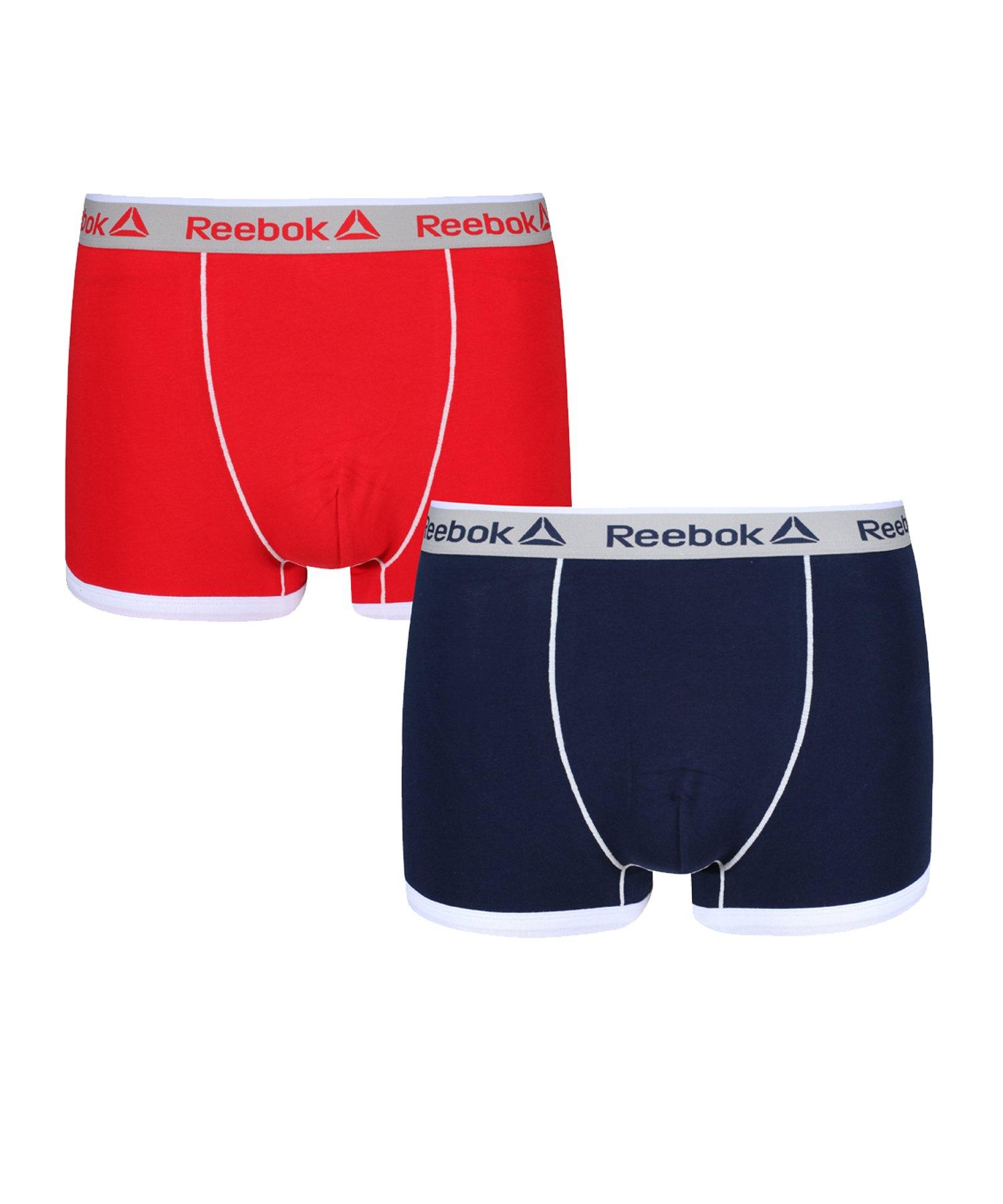 Reebok 2er Pack Trunk OLIVER Boxershort Blau und Rot - blau
