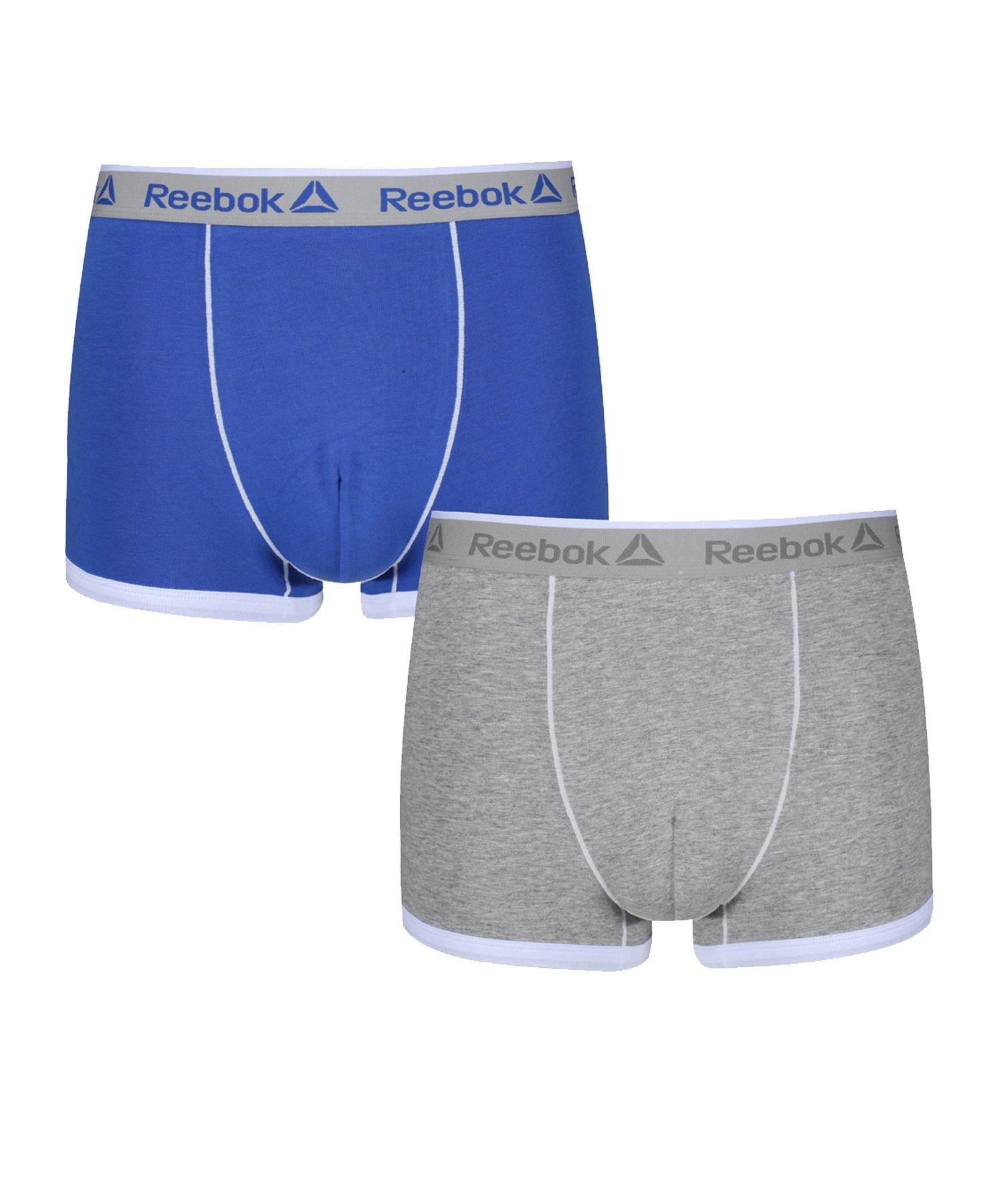 Reebok 2er Pack Trunk OLIVER BoxershortBlau & Grau - blau