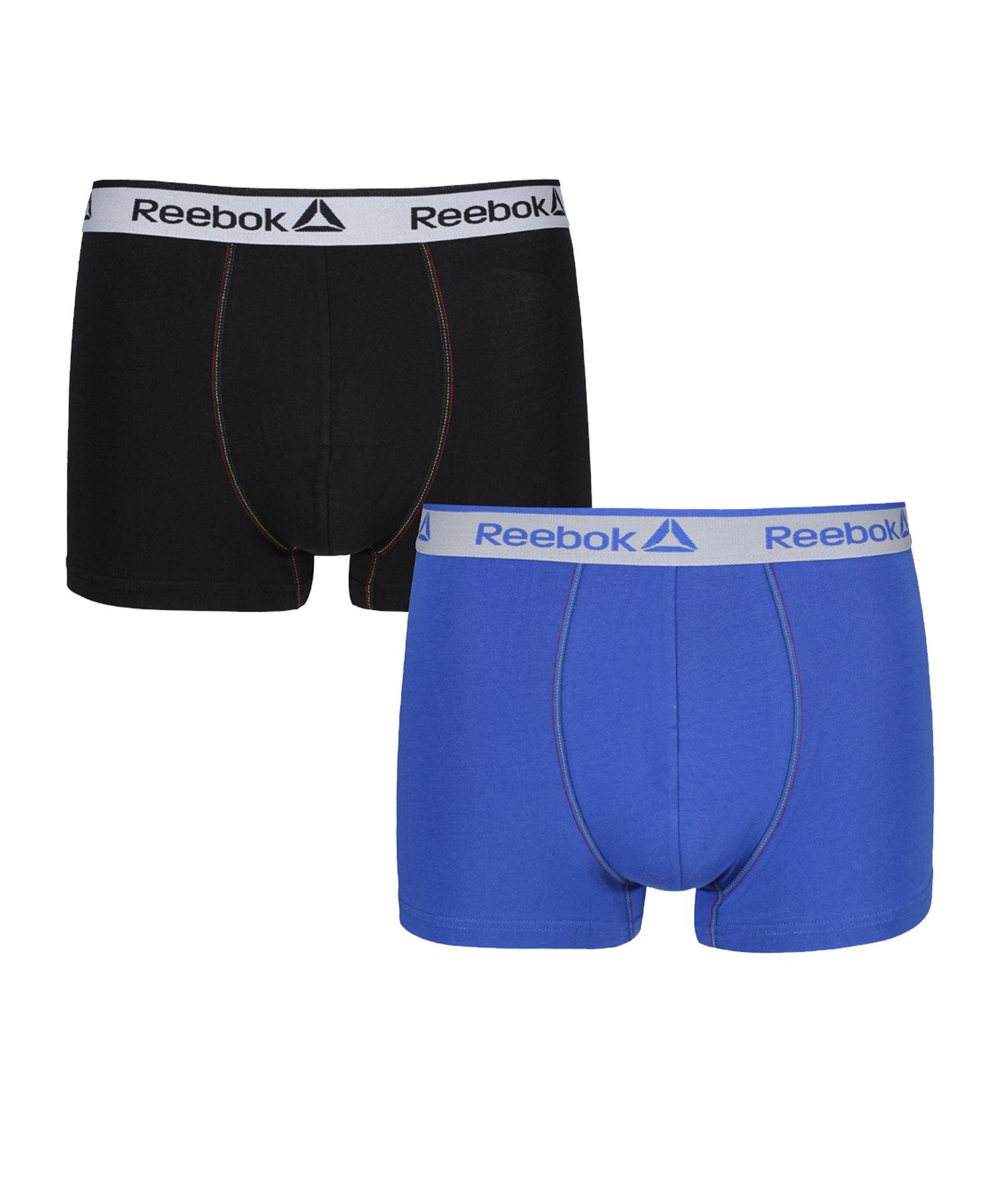 Reebok 2er Pack Trunk BILLY Boxershort Blau/Schwarz - blau