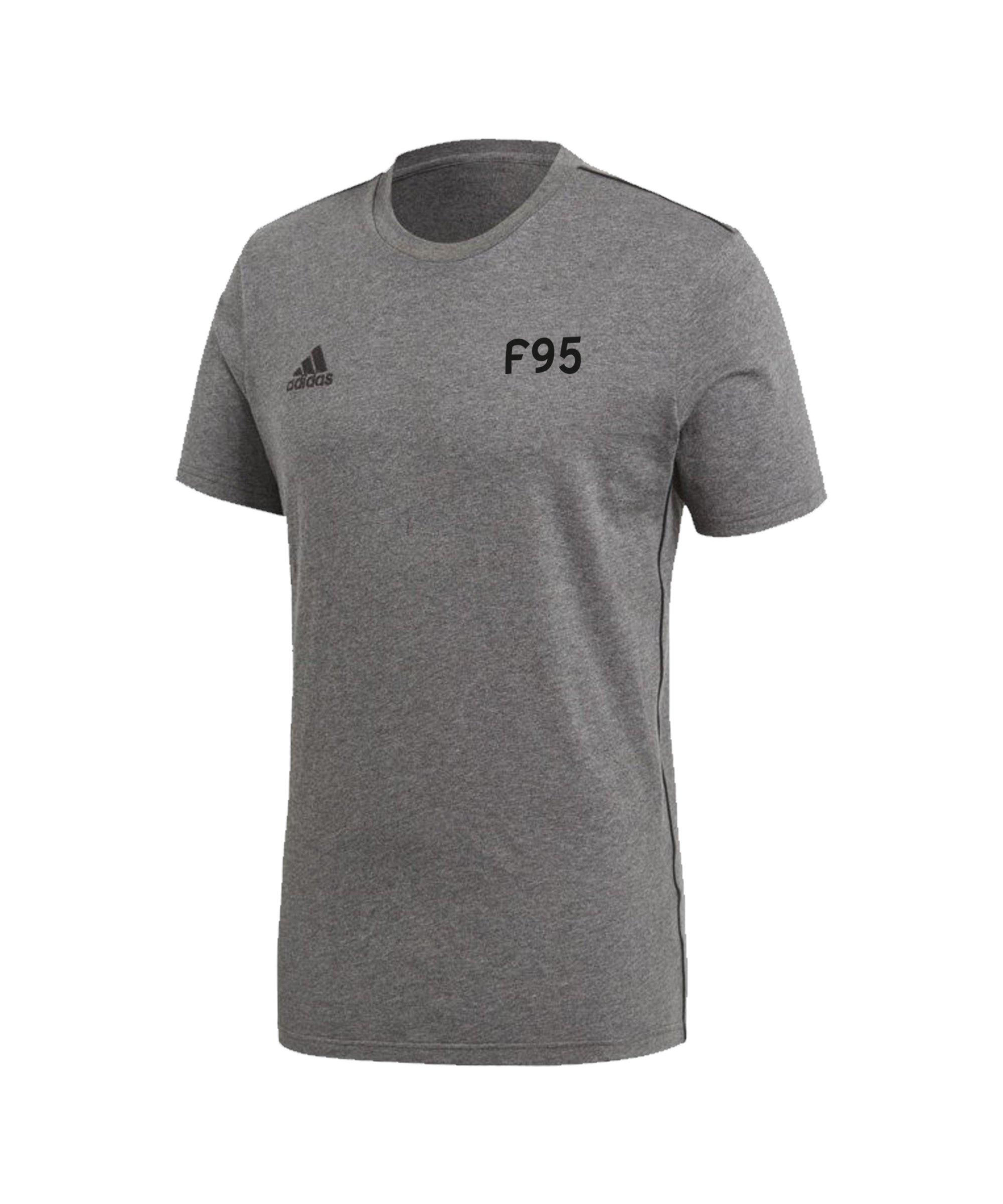 adidas Fortuna Düsseldorf Freizeit T-Shirt Grau - grau