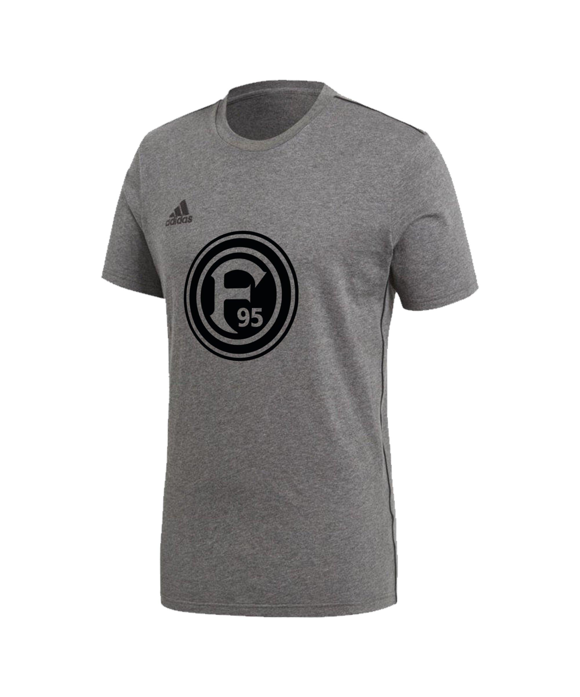 adidas Fortuna Düsseldorf Freizeit T-Shirt Kids Grau - grau