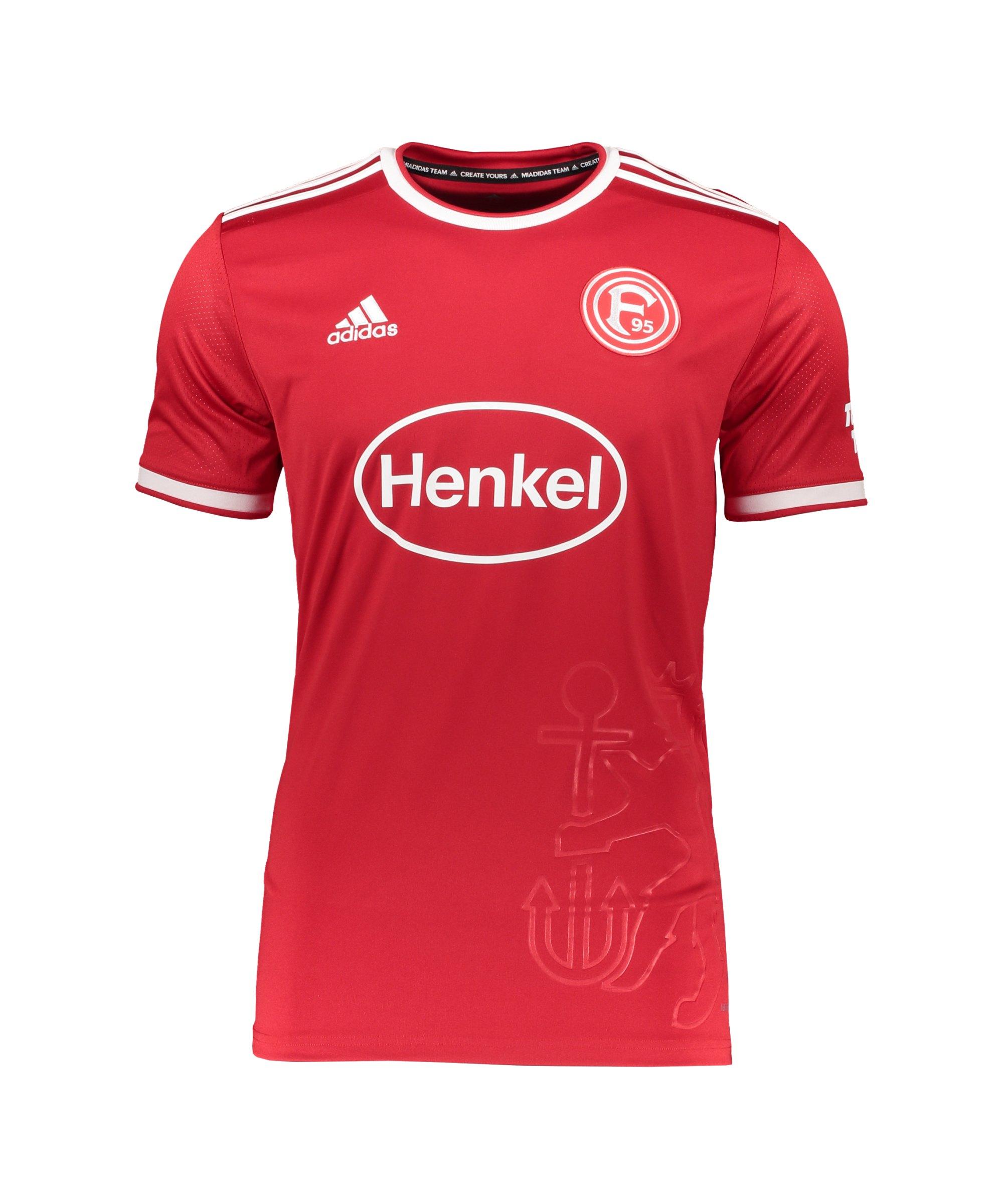 adidas Fortuna Düsseldorf Trikot Home 2021/2022 Kids Rot - rot