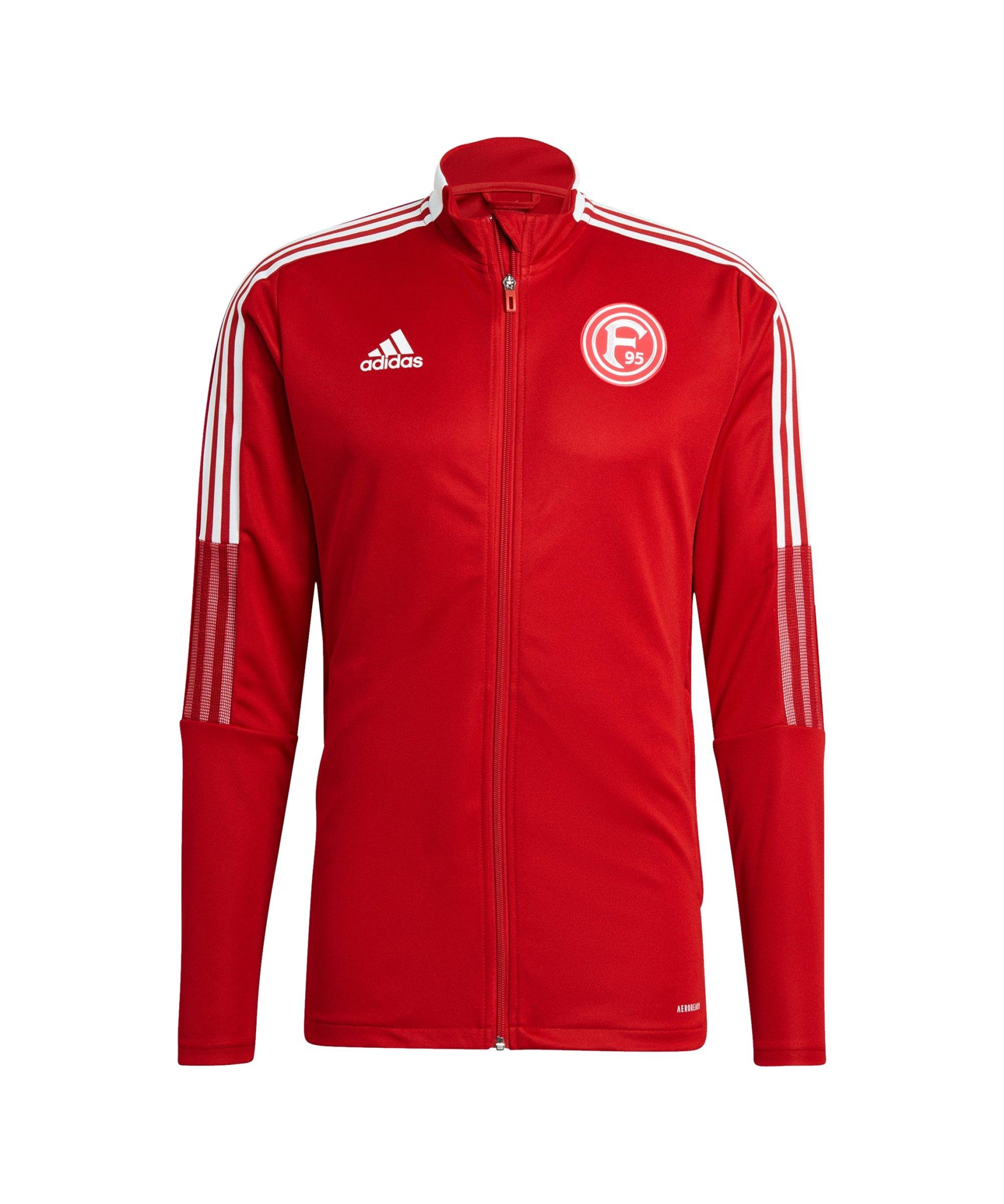 adidas Fortuna Düsseldorf Trainingsjacke Rot - rot