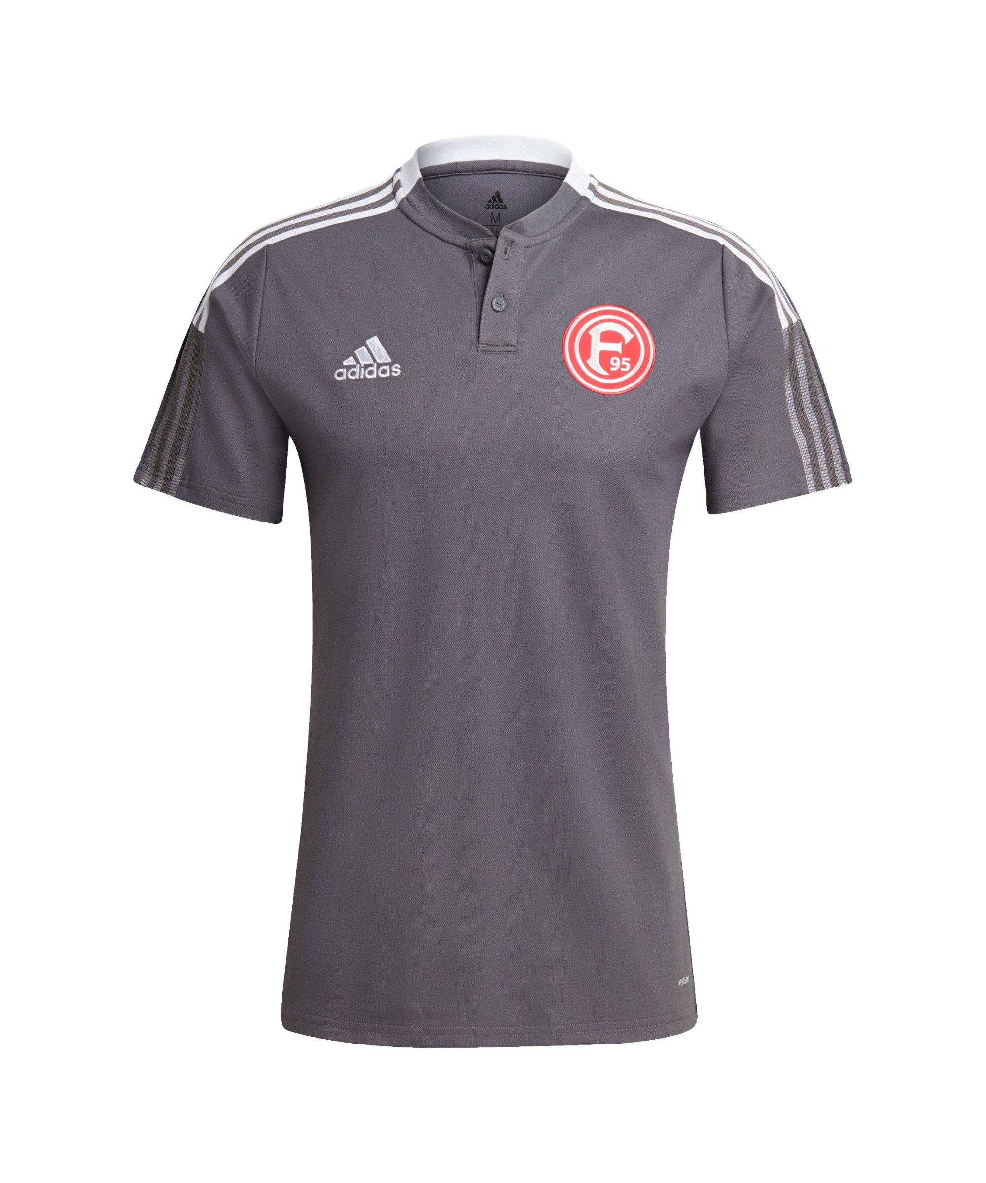 adidas Fortuna Düsseldorf Polo Grau - grau