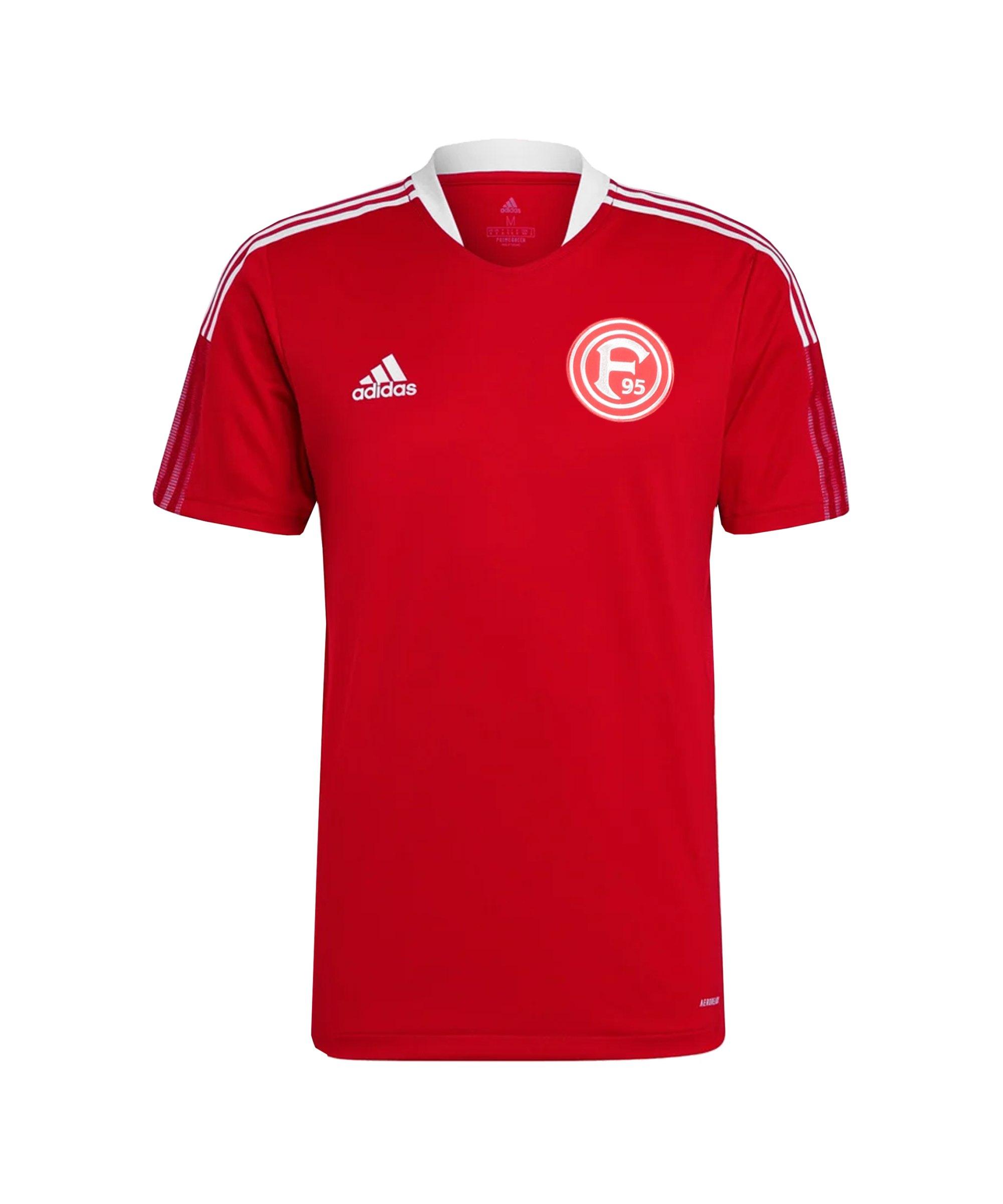 adidas Fortuna Düsseldorf Trainingsshirt Kids Rot - rot