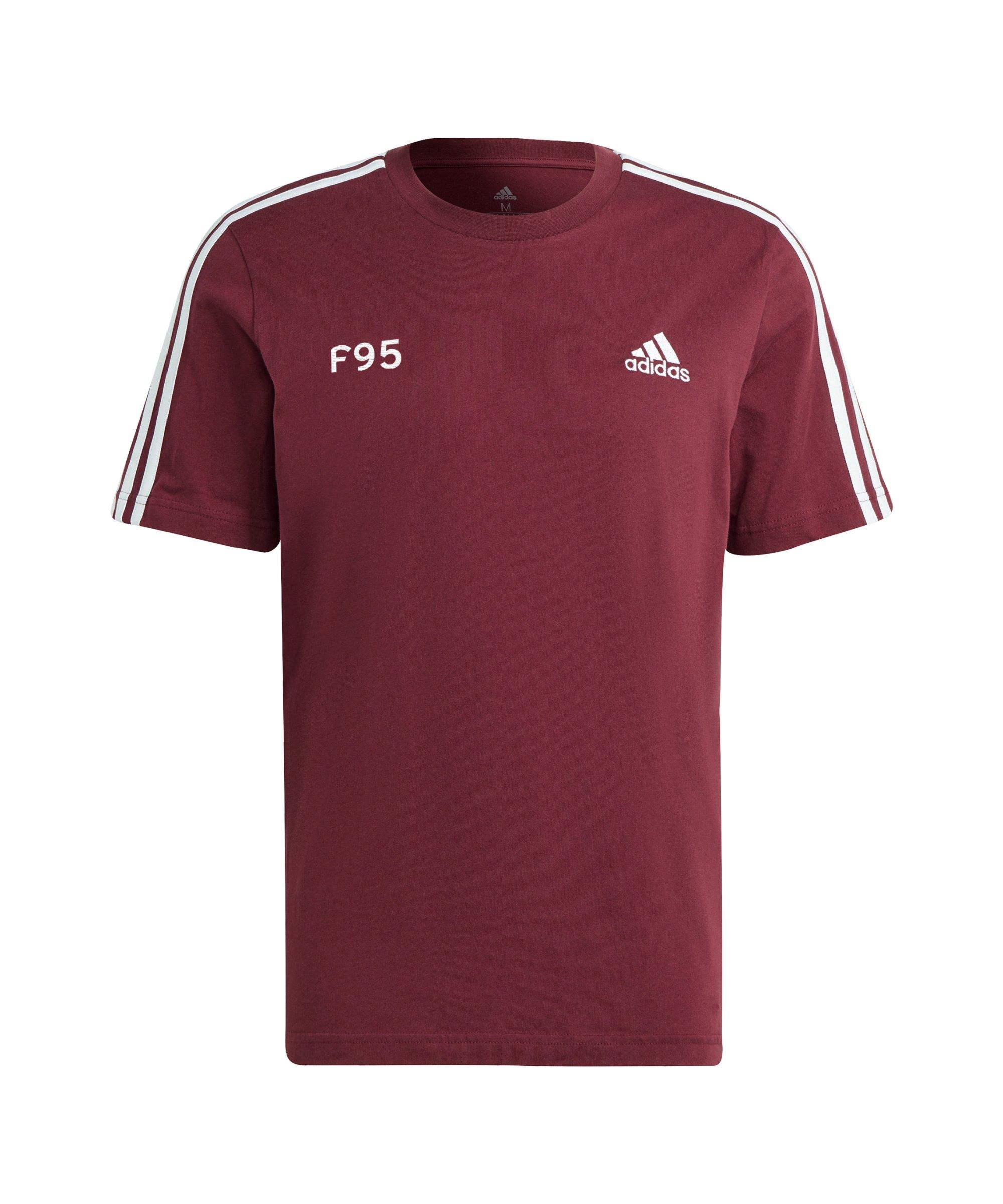 adidas Fortuna Düsseldorf Freizeit T-Shirt Rot - rot