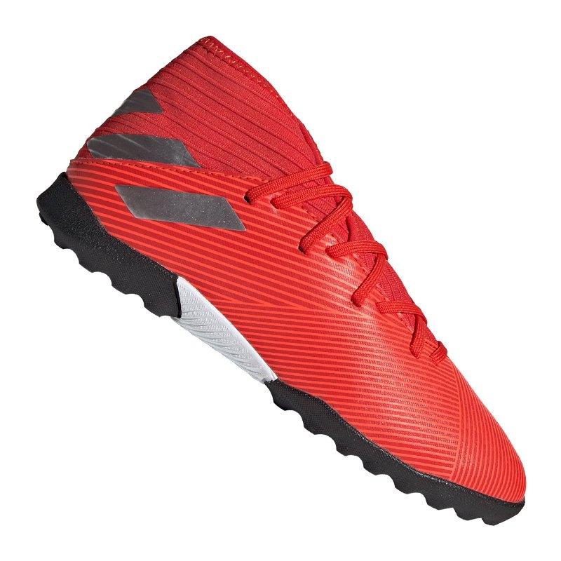 adidas NEMEZIZ 19.3 TF J Kids Rot Silber - Rot