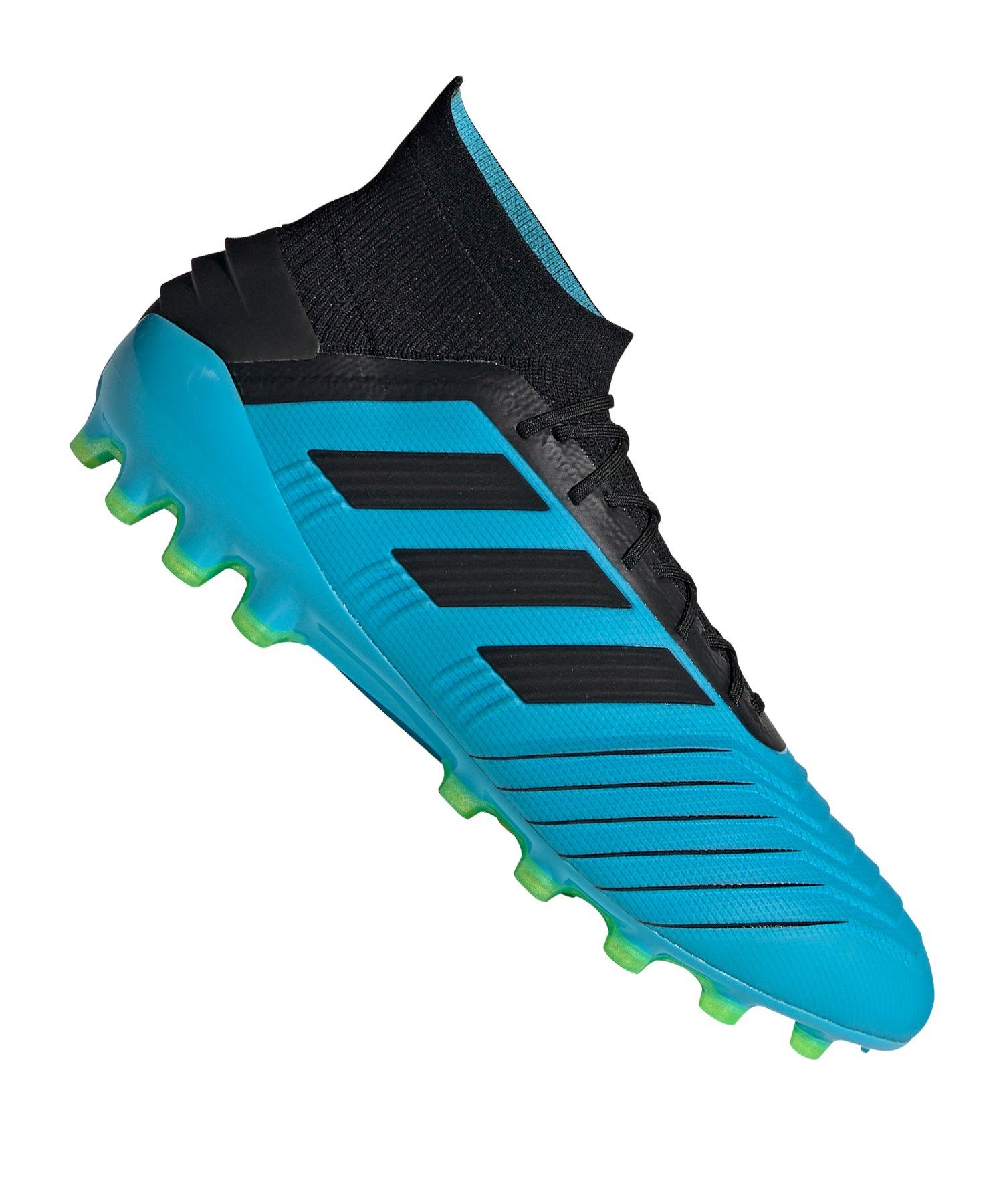 adidas Predator 19.1 AG Blau Schwarz - blau