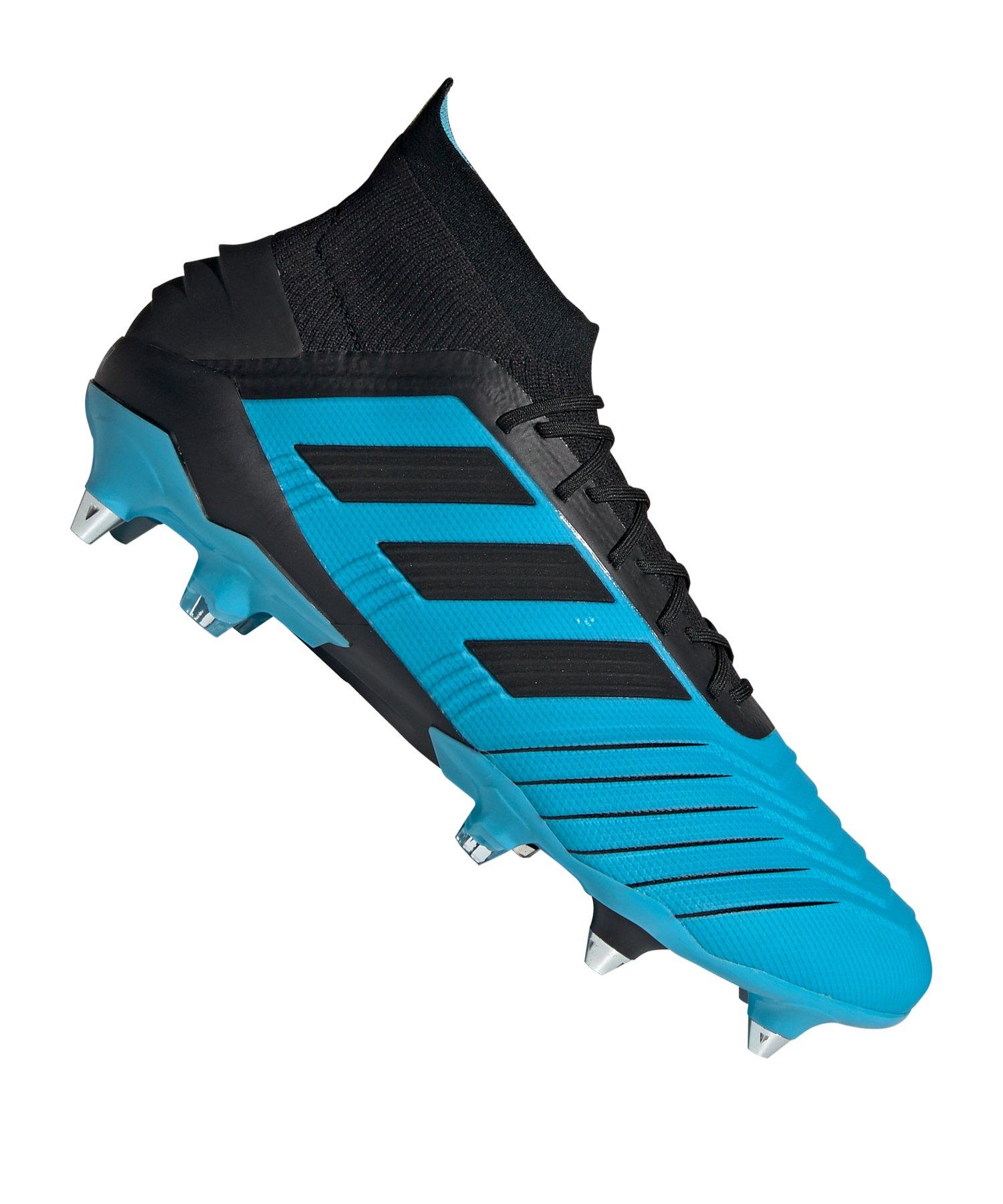 adidas Predator 19.1 SG Blau Schwarz - blau