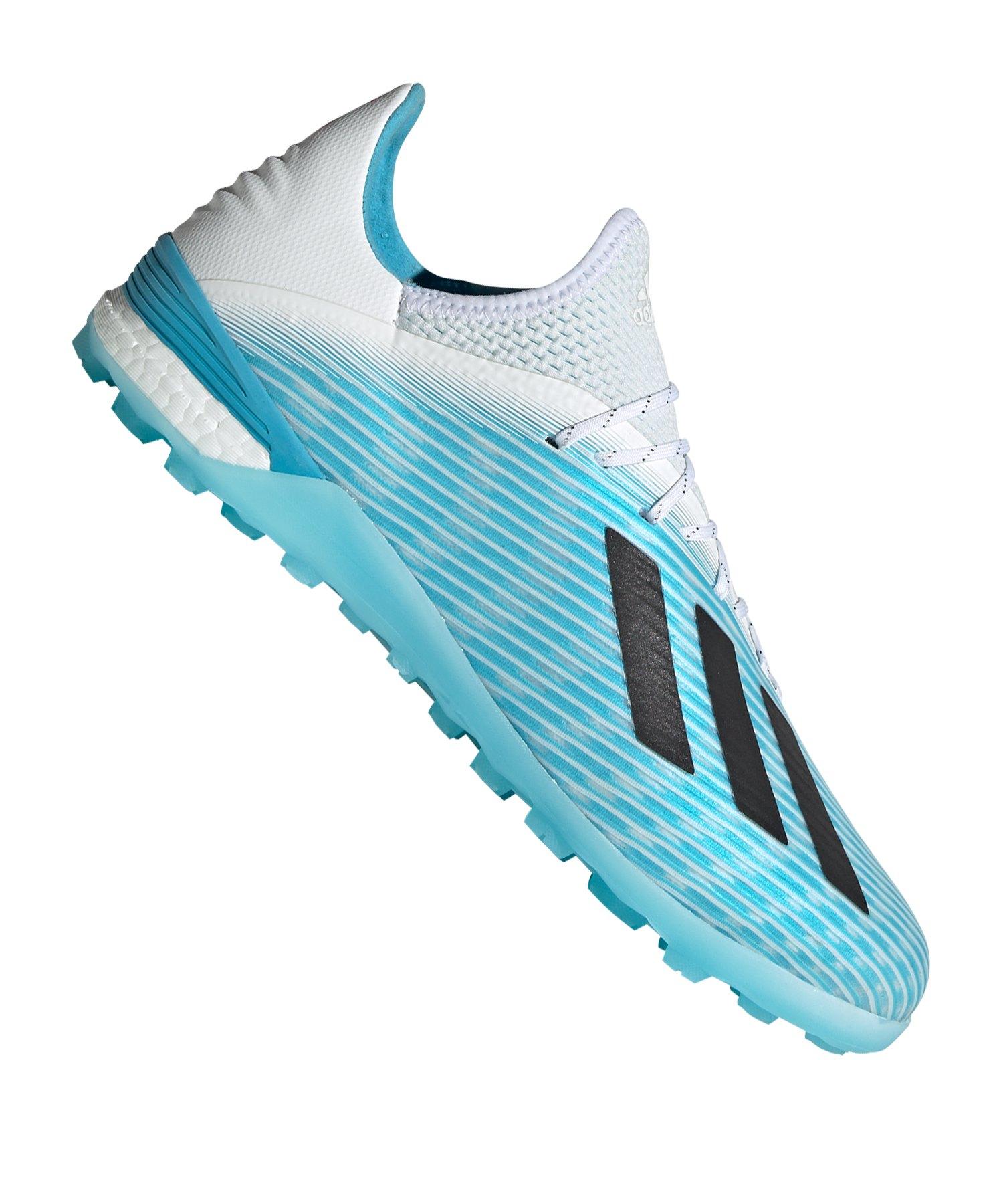adidas X 19.1 TF Blau Weiss Schwarz - blau
