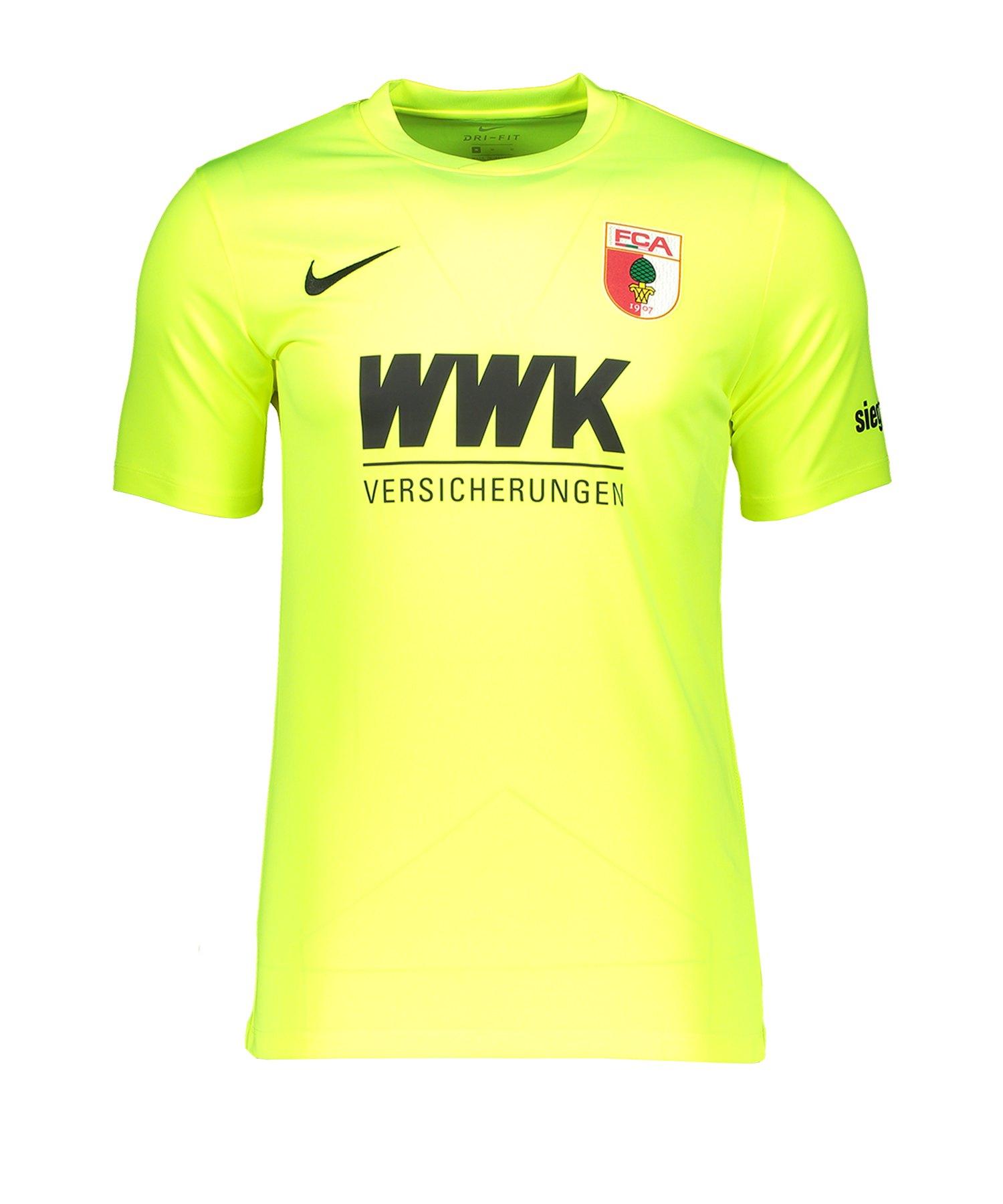 Nike FC Augsburg Torwarttrikot 2019/2020 Kids Gelb F702 - gelb