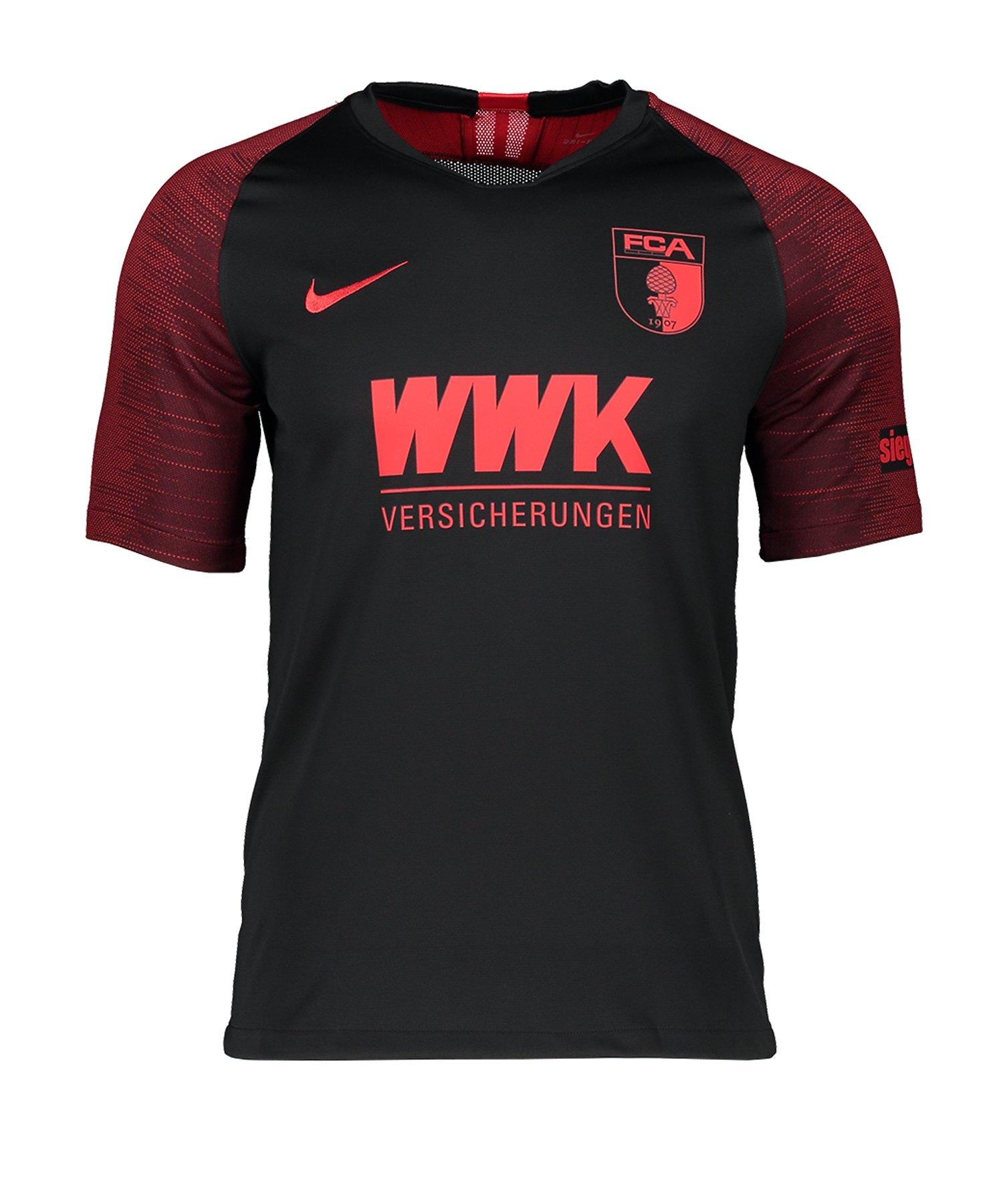 Nike FC Augsburg Trikot Away 2019/2020 Kids Schwarz F014 - schwarz