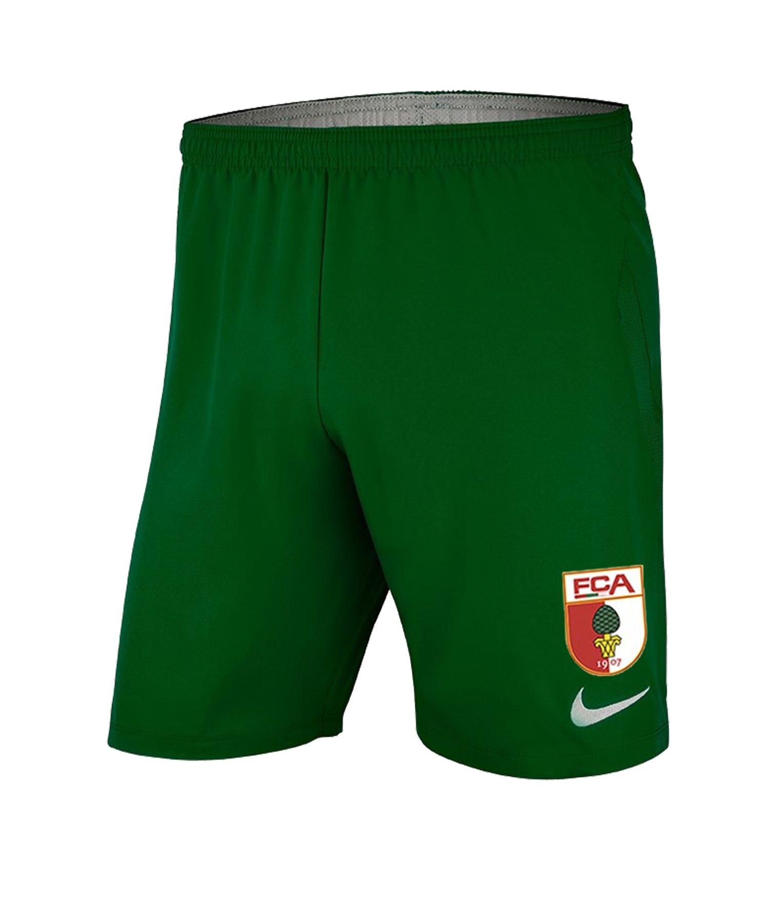 Nike FC Augsburg Short Home 2019/2020 Grün F302 - gruen