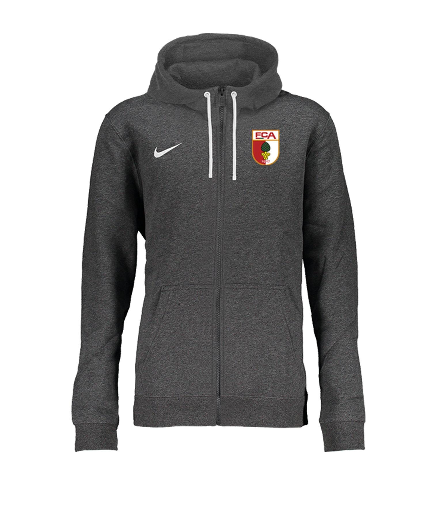 Nike FC Augsburg Kapuzenjacke Kids Grau F071 - grau