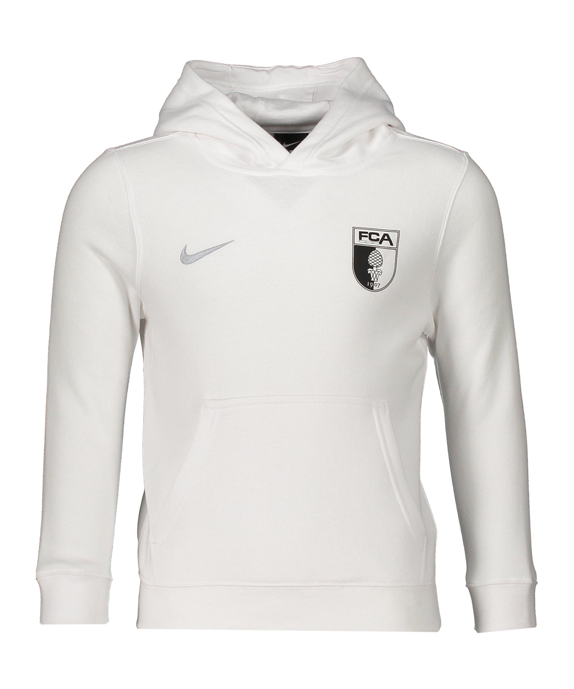 Nike FC Augsburg Kapuzenpullover Kids Weiss F100 - weiss