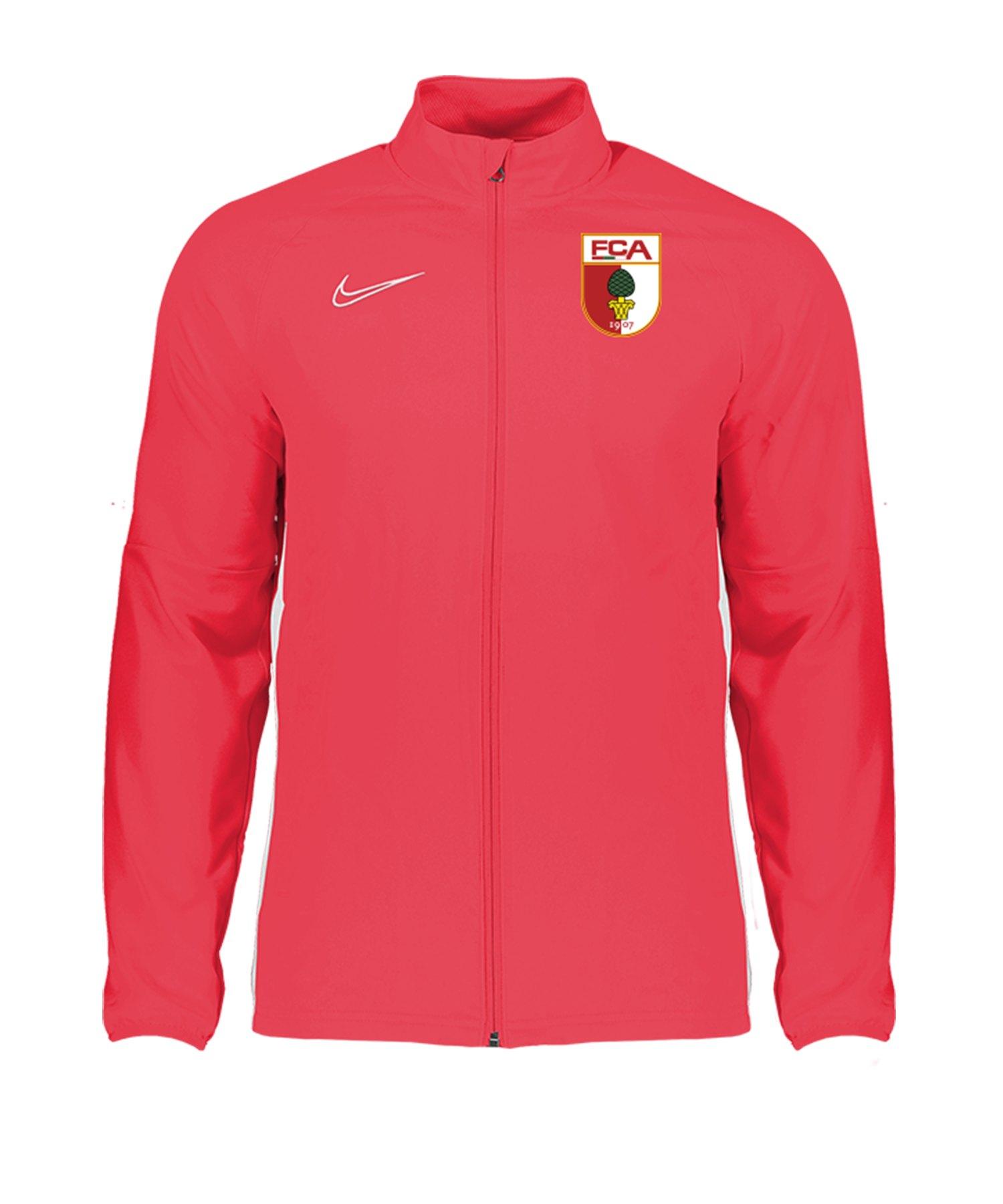 Nike FC Augsburg Trainingsjacke Rot F671 - rot