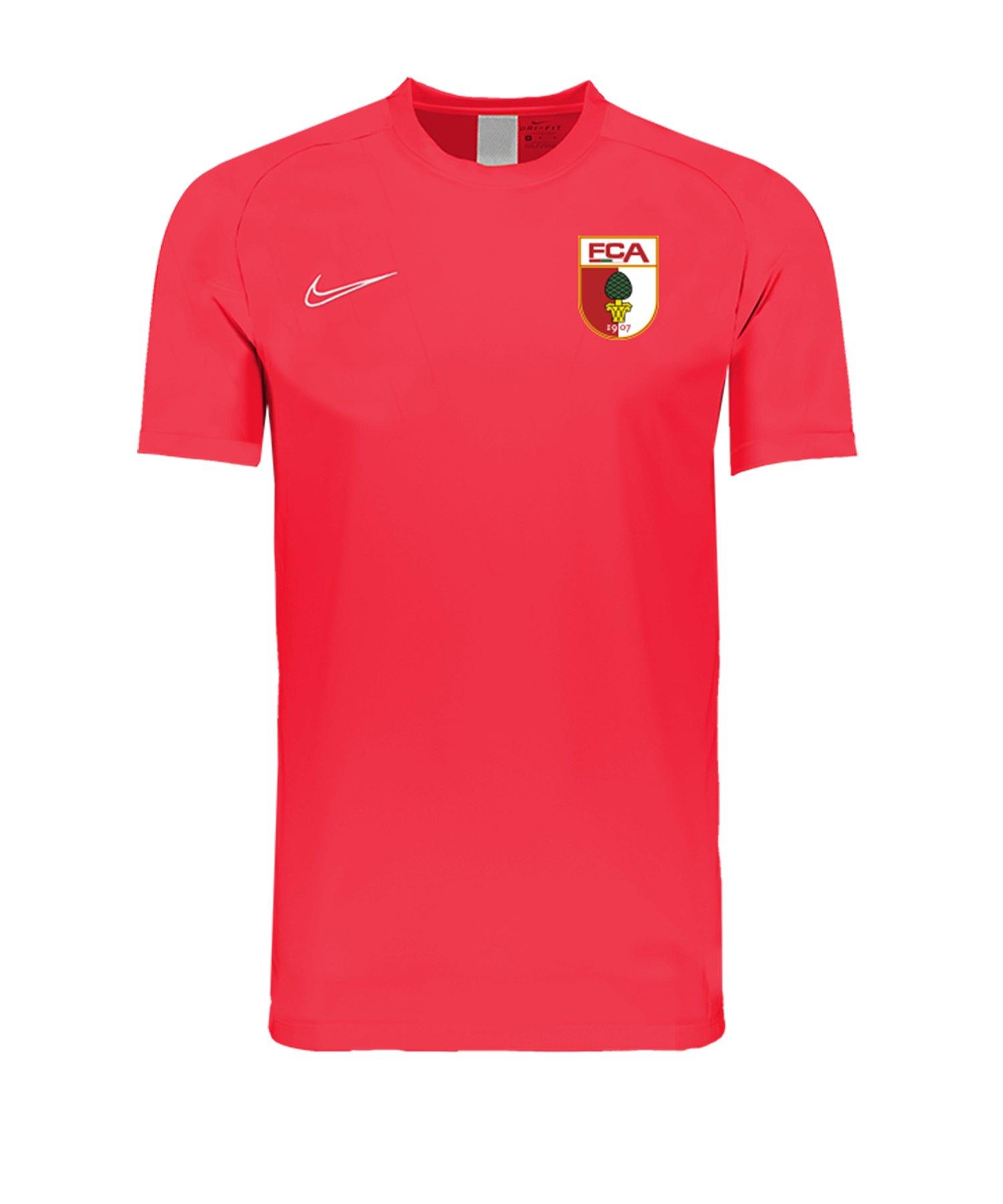Nike FC Augsburg Trainingsshirt KA Kids Rot F671 - rot