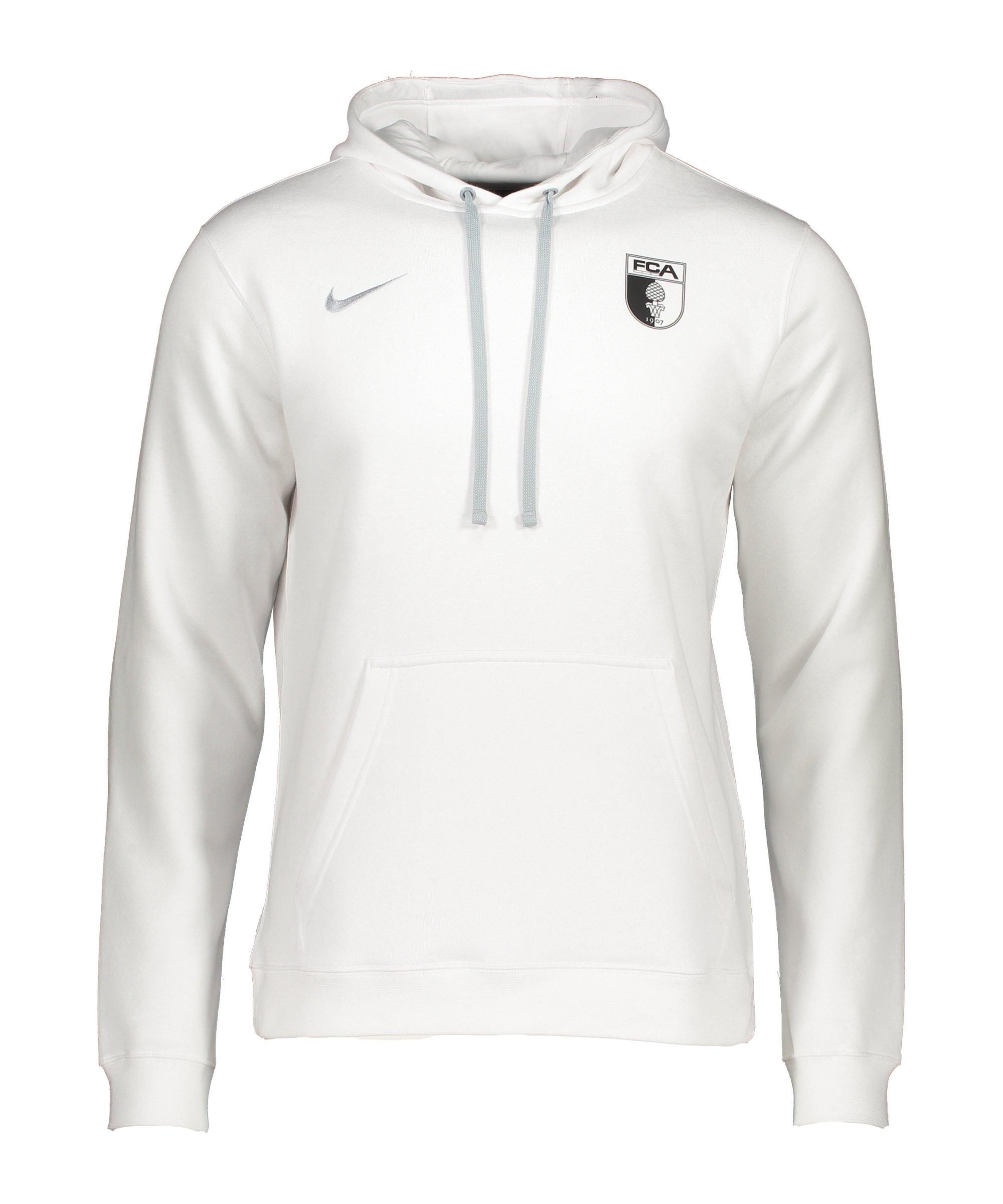 Nike FC Augsburg Kapuzenpullover Weiss F100 - weiss