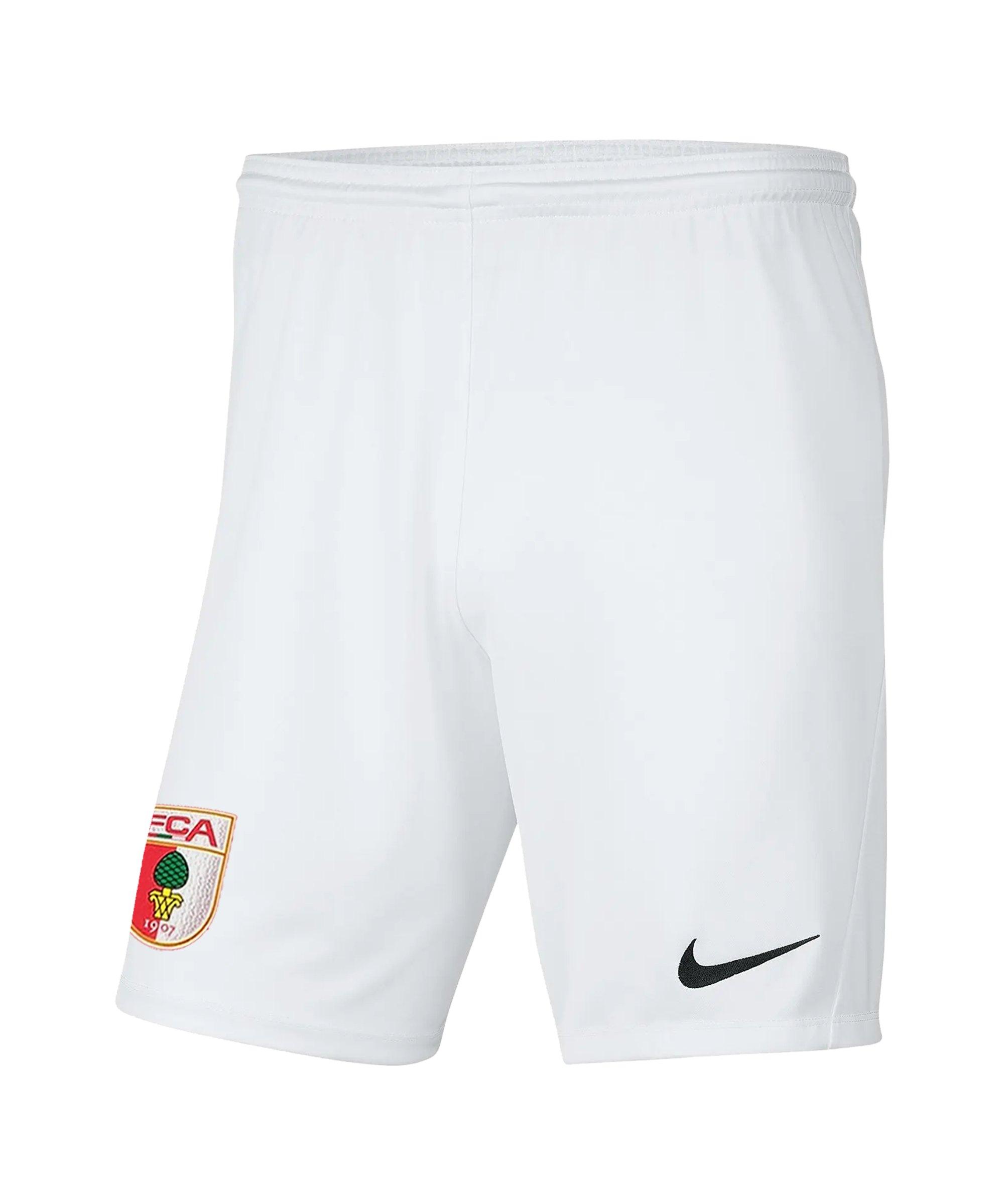 Nike FC Augsburg Short Away 2021/2022 Kids Weiss F100 - weiss