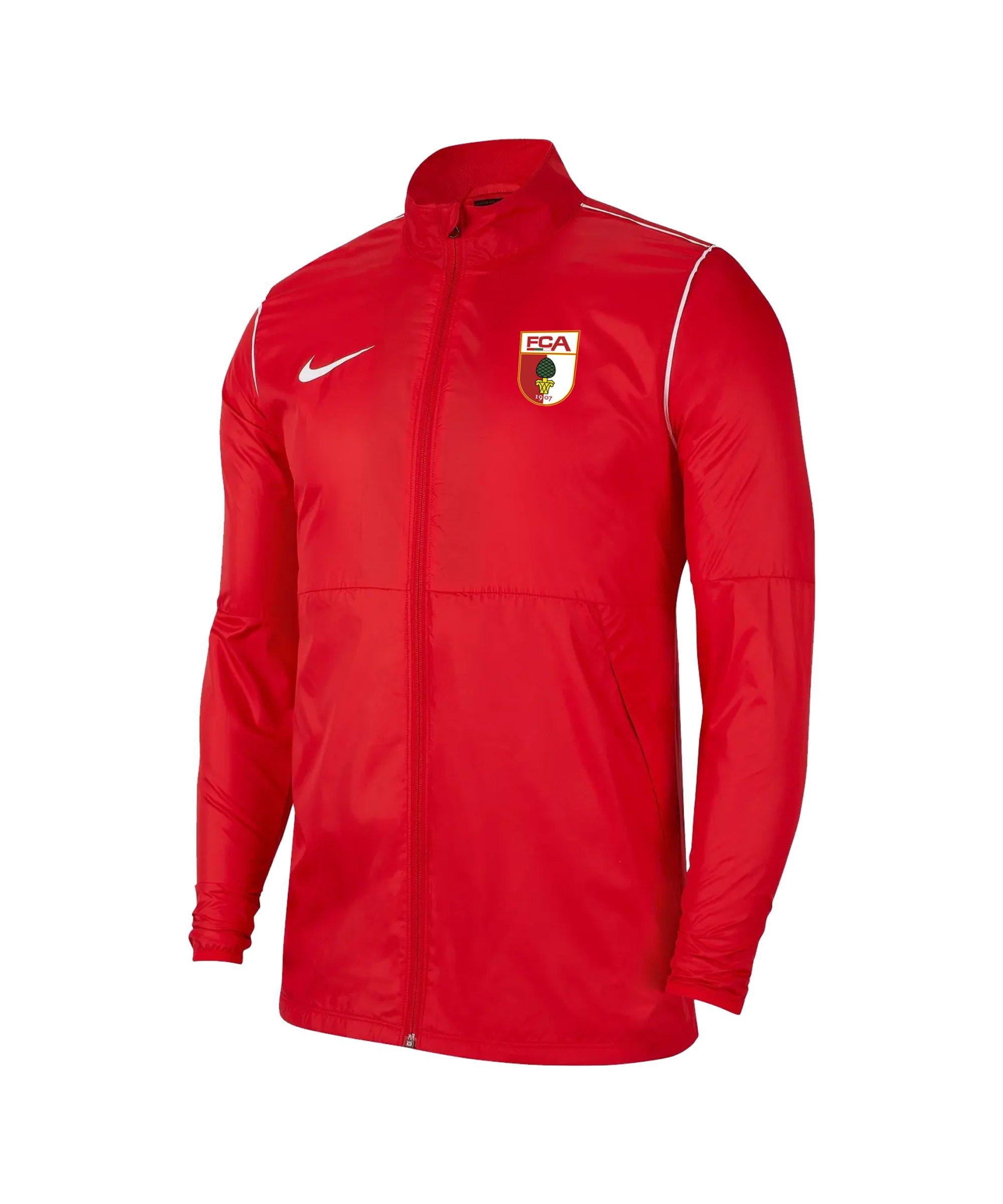 Nike FC Augsburg Regenjacke Rot F657 - rot