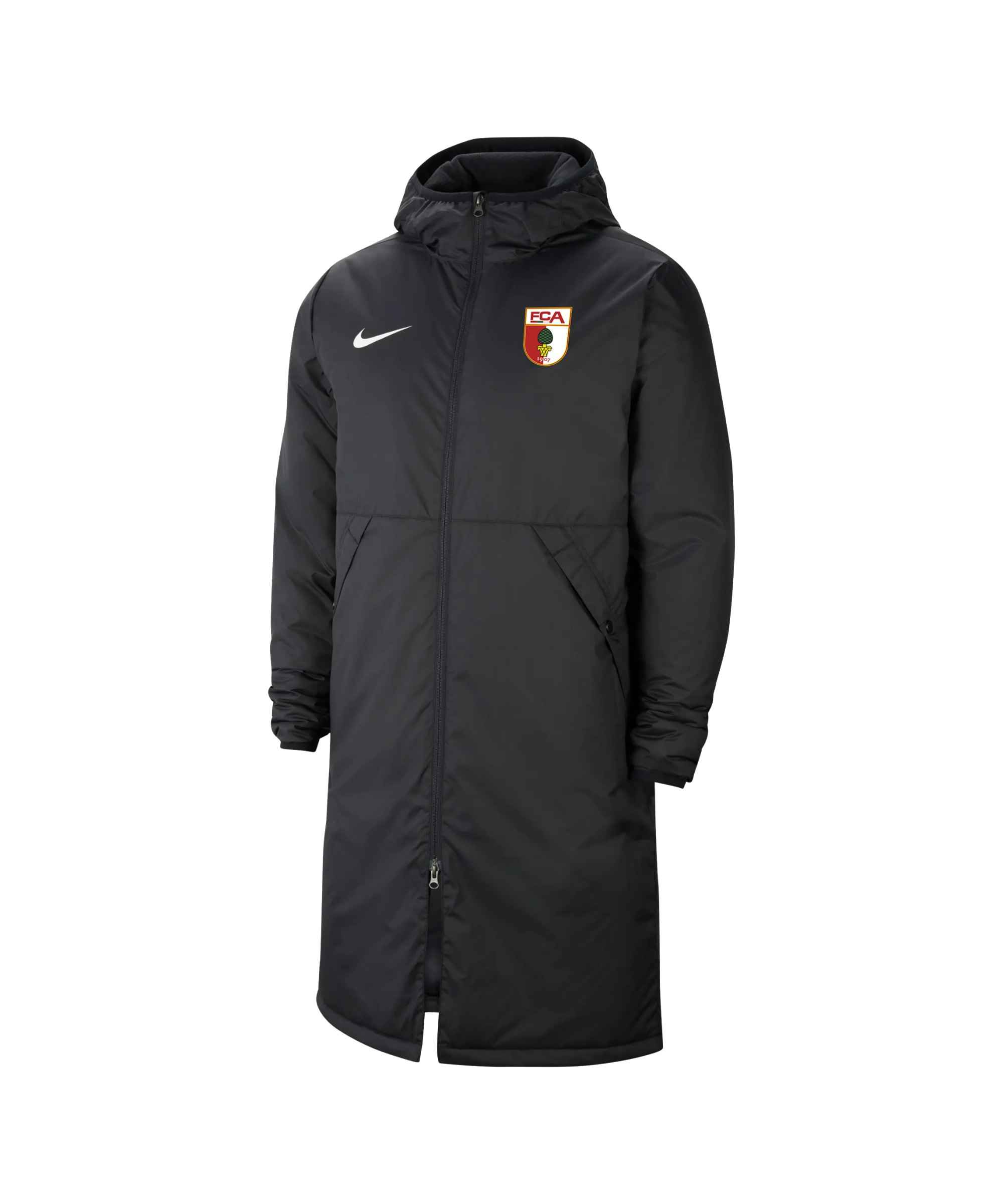 Nike FC Augsburg Winterjacke Schwarz F010 - schwarz