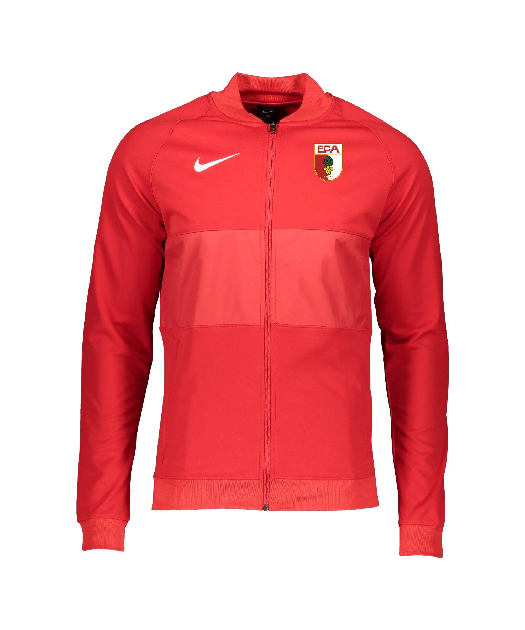 Nike FC Augsburg Präsentationsjacke Rot F657 - rot