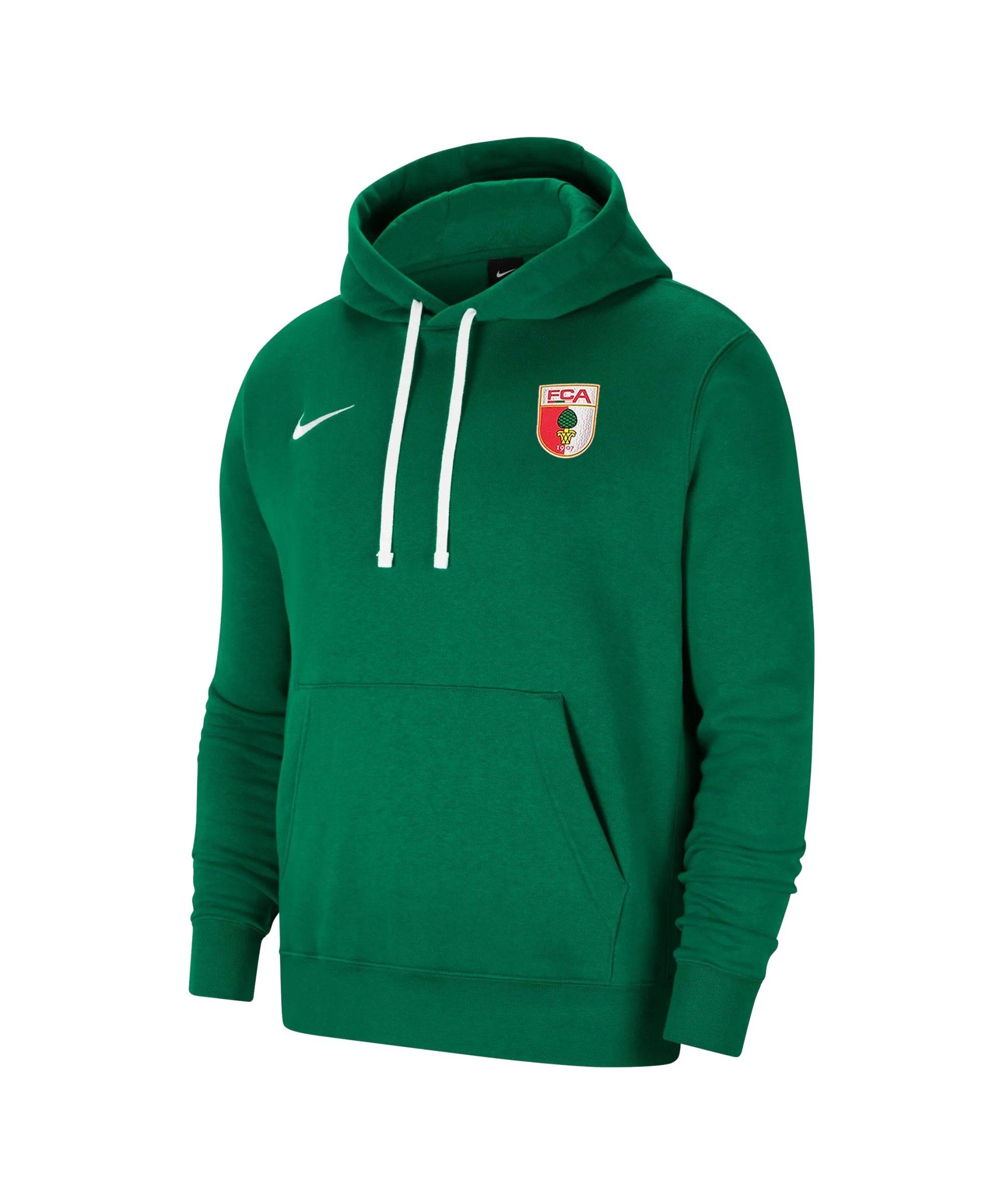 Nike FC Augsburg Fleece Hoody Grün F302 - gruen