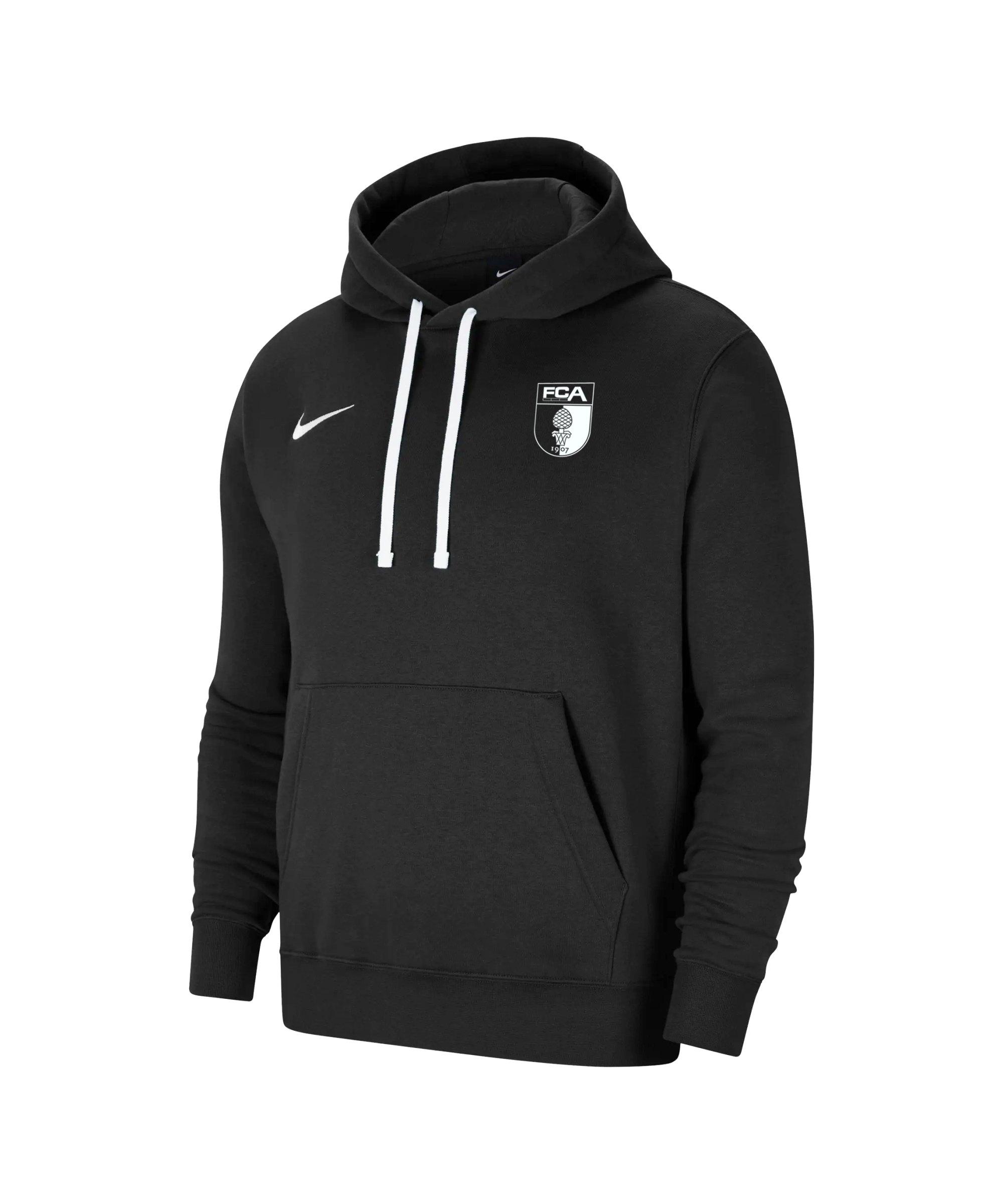 Nike FC Augsburg Fleece Hoody Schwarz F010 - schwarz