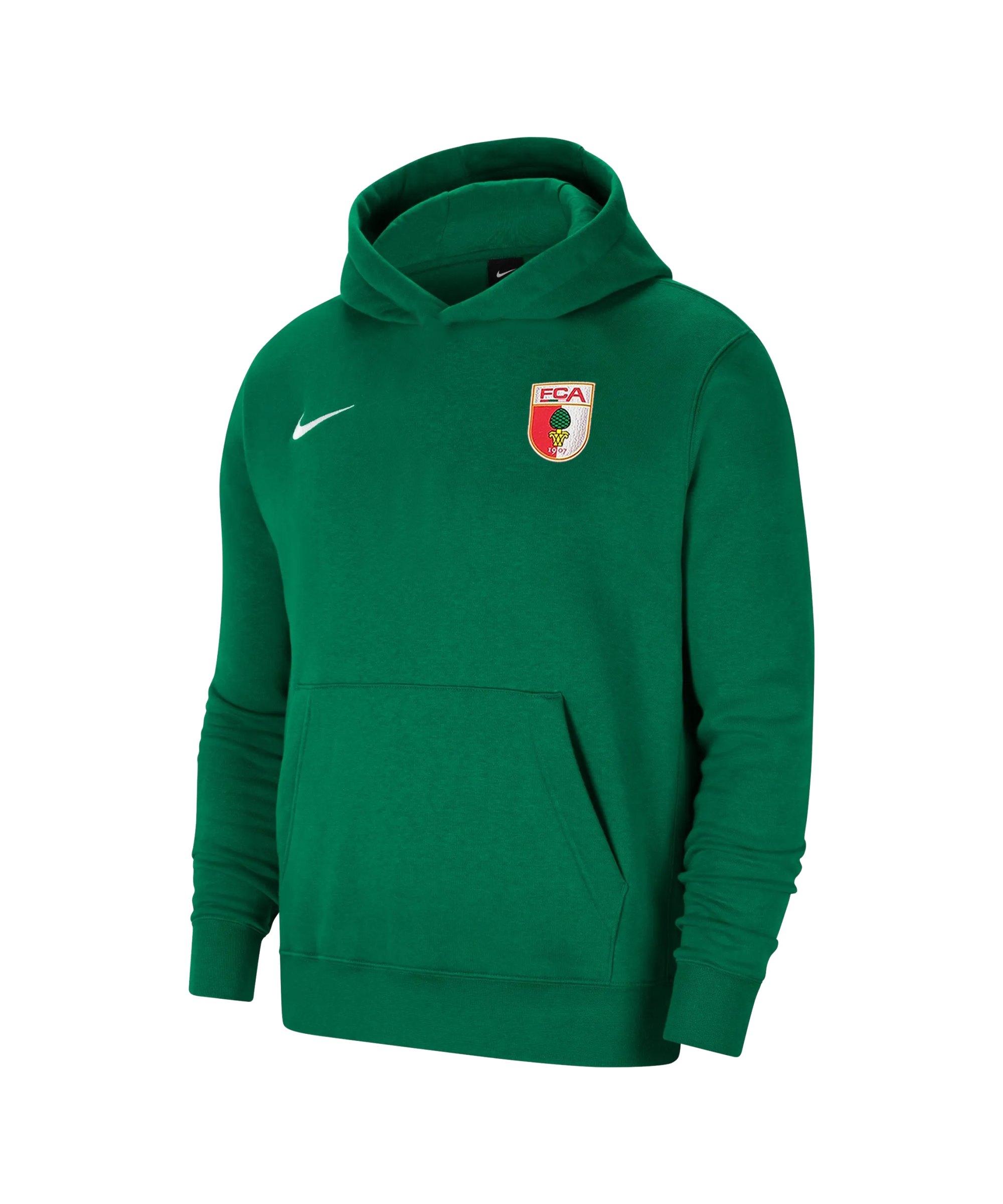 Nike FC Augsburg Fleece Hoody Kids Grün F302 - gruen