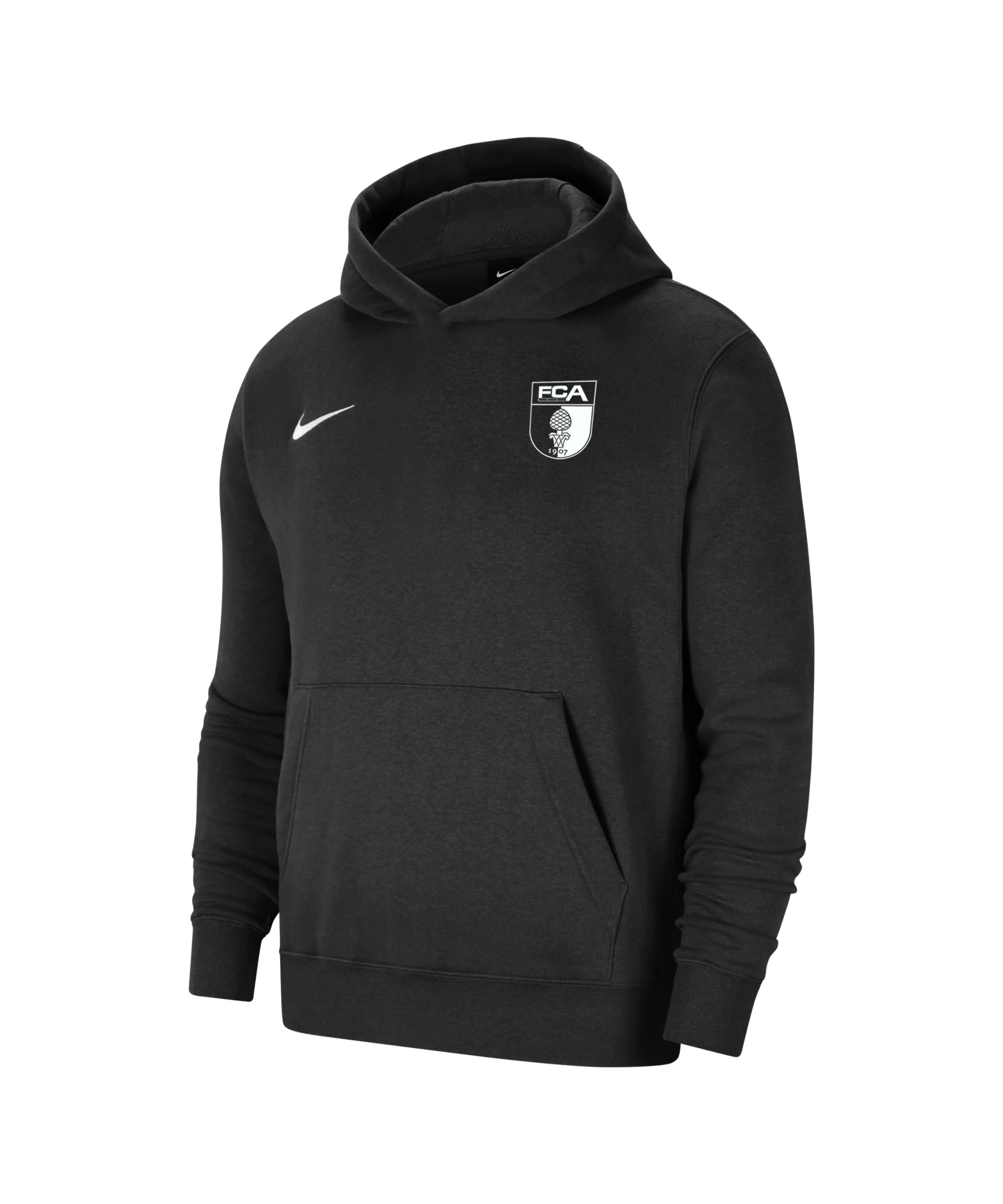 Nike FC Augsburg Fleece Hoody Kids Schwarz F010 - schwarz