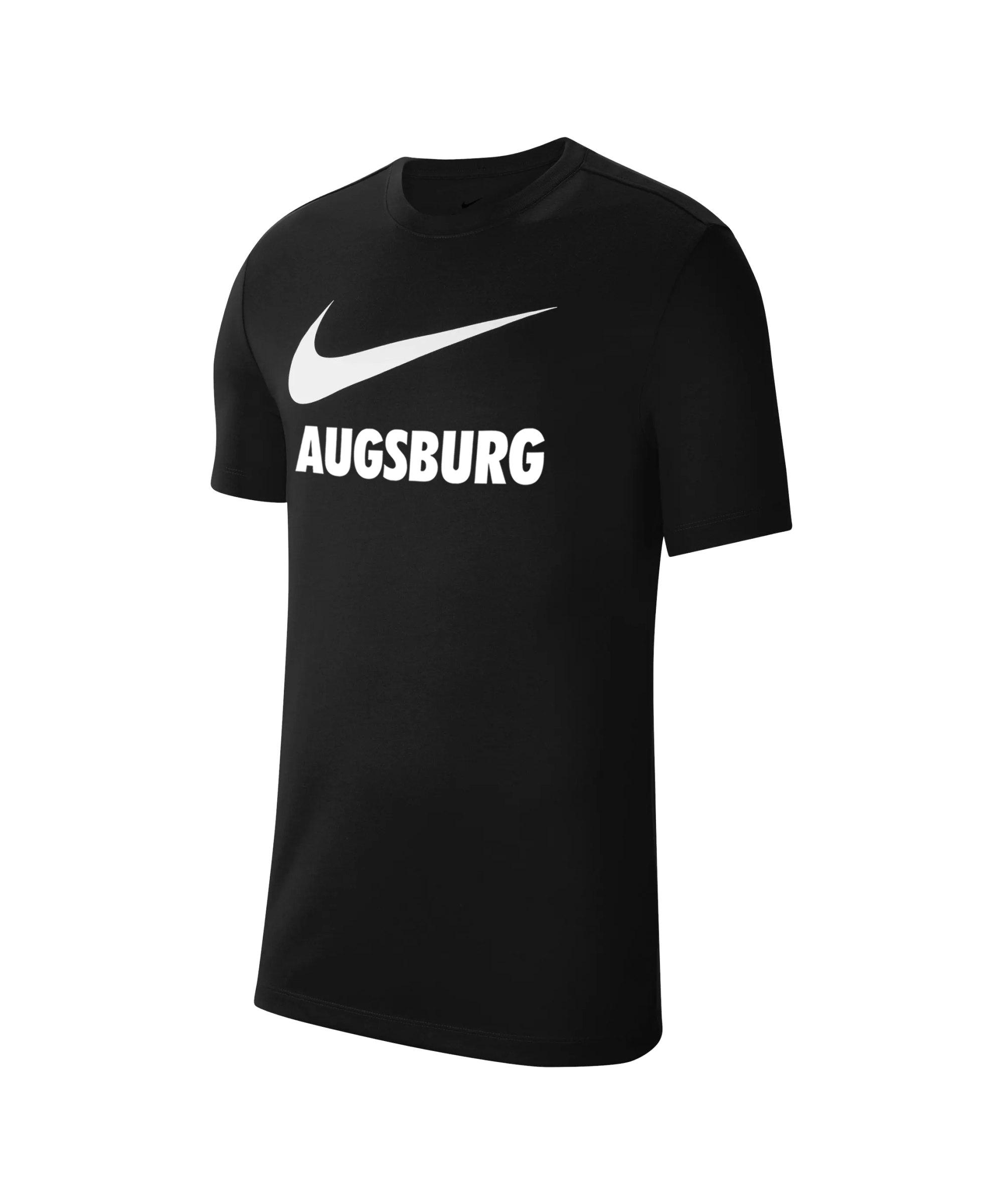 Nike FC Augsburg Fleece T-Shirt Kids Schwarz F010 - schwarz