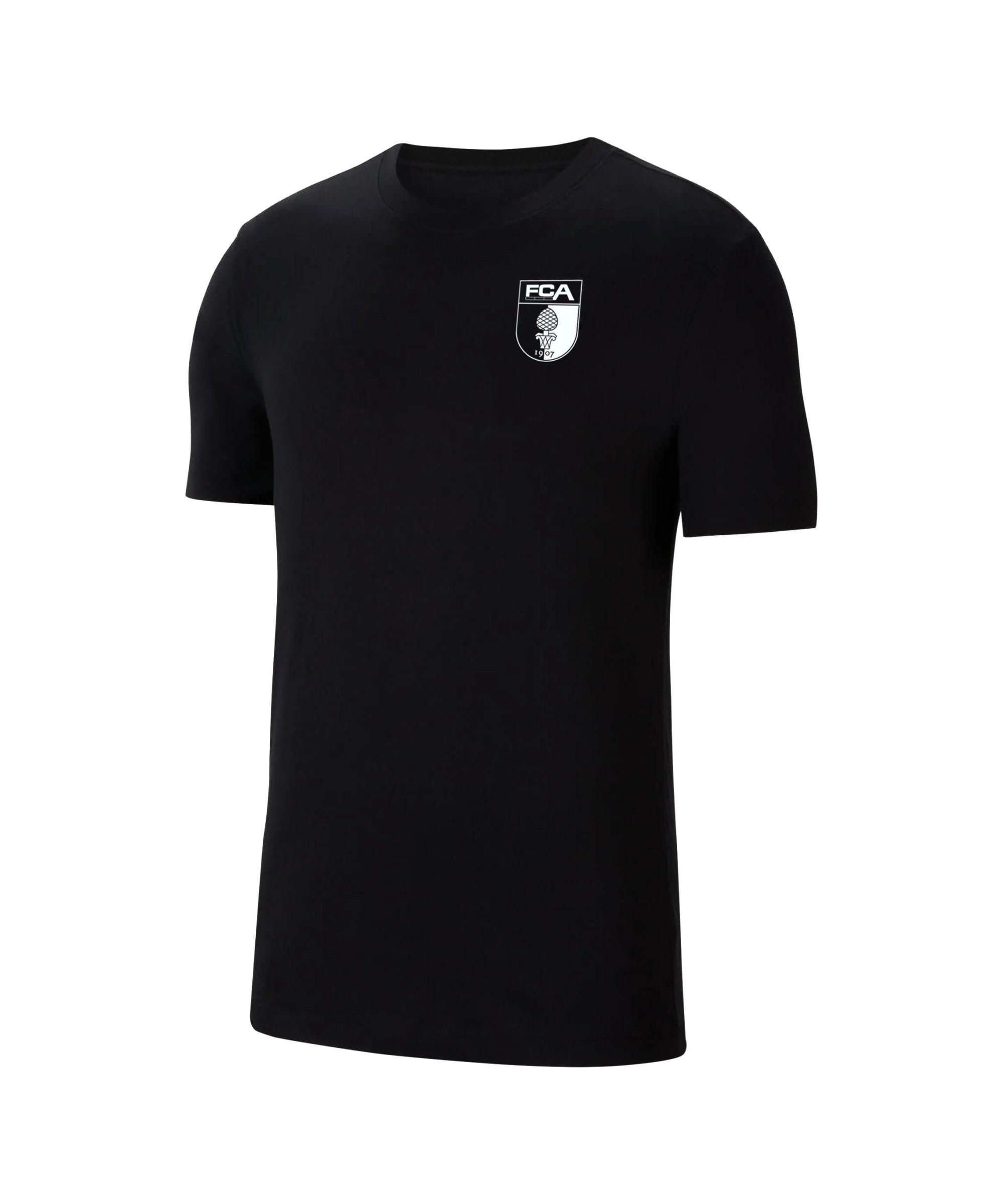Nike FC Augsburg T-Shirt Kids Schwarz F010 - schwarz