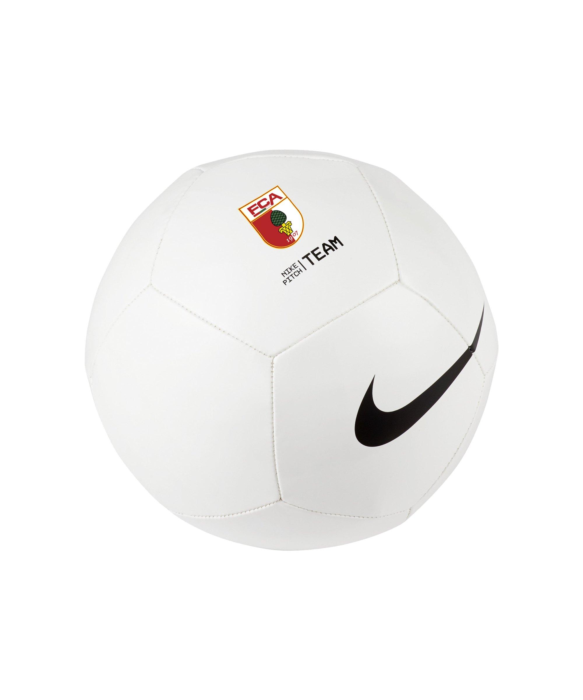 Nike FC Augsburg Trainingsball Weiss F100 - weiss