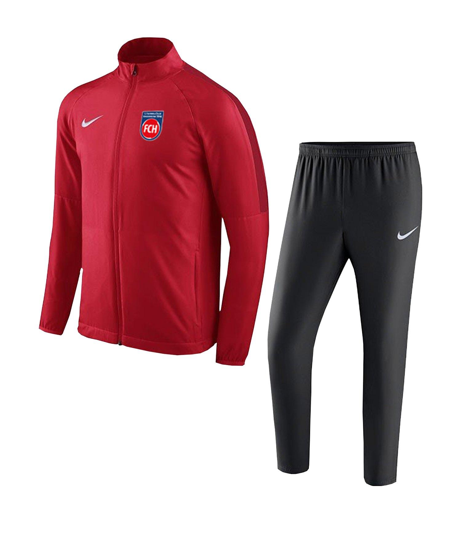 Nike 1. FC Heidenheim Trainingsanzug Rot F657 - rot
