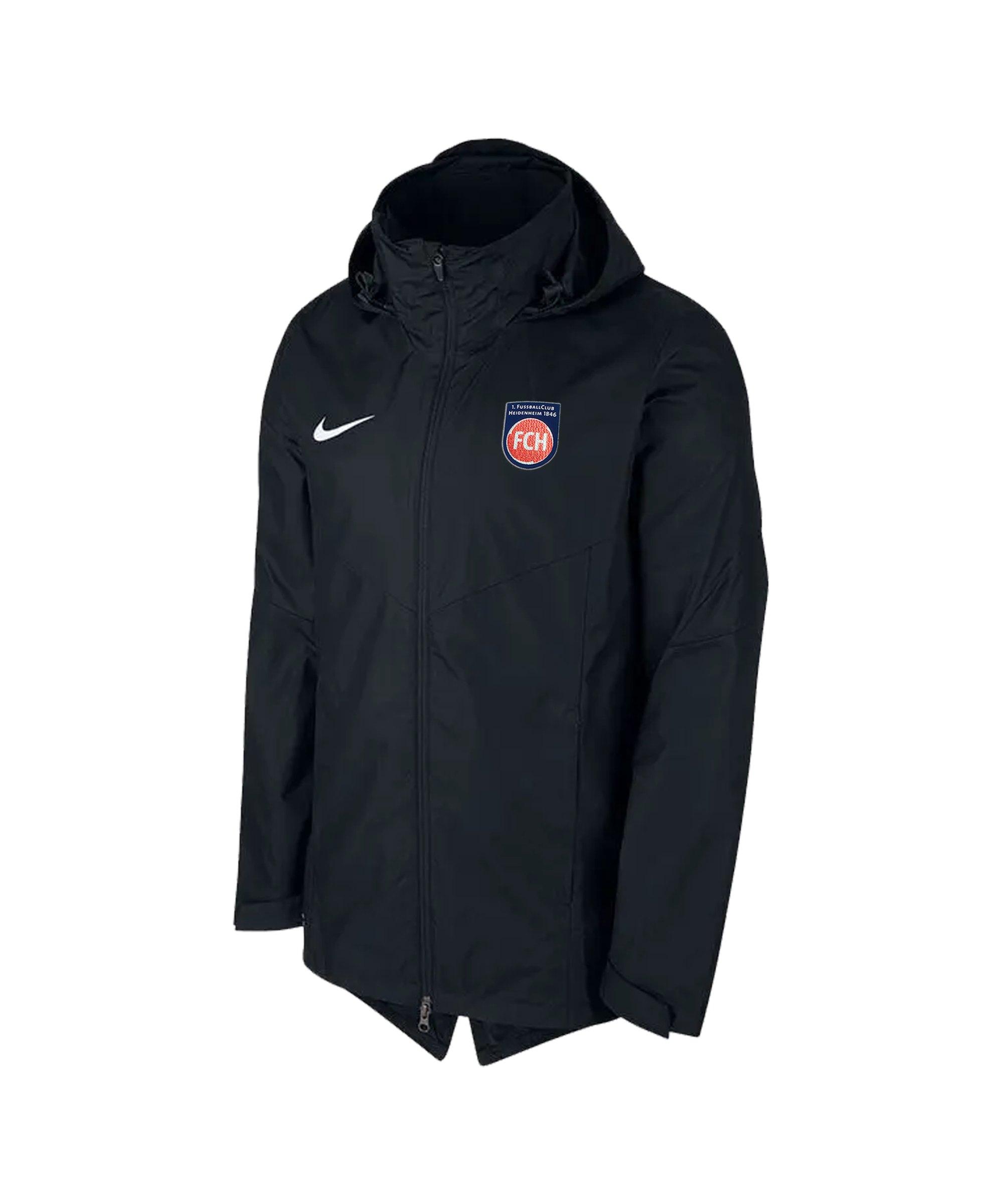 Nike 1. FC Heidenheim Regenjacke Schwarz F010 - schwarz