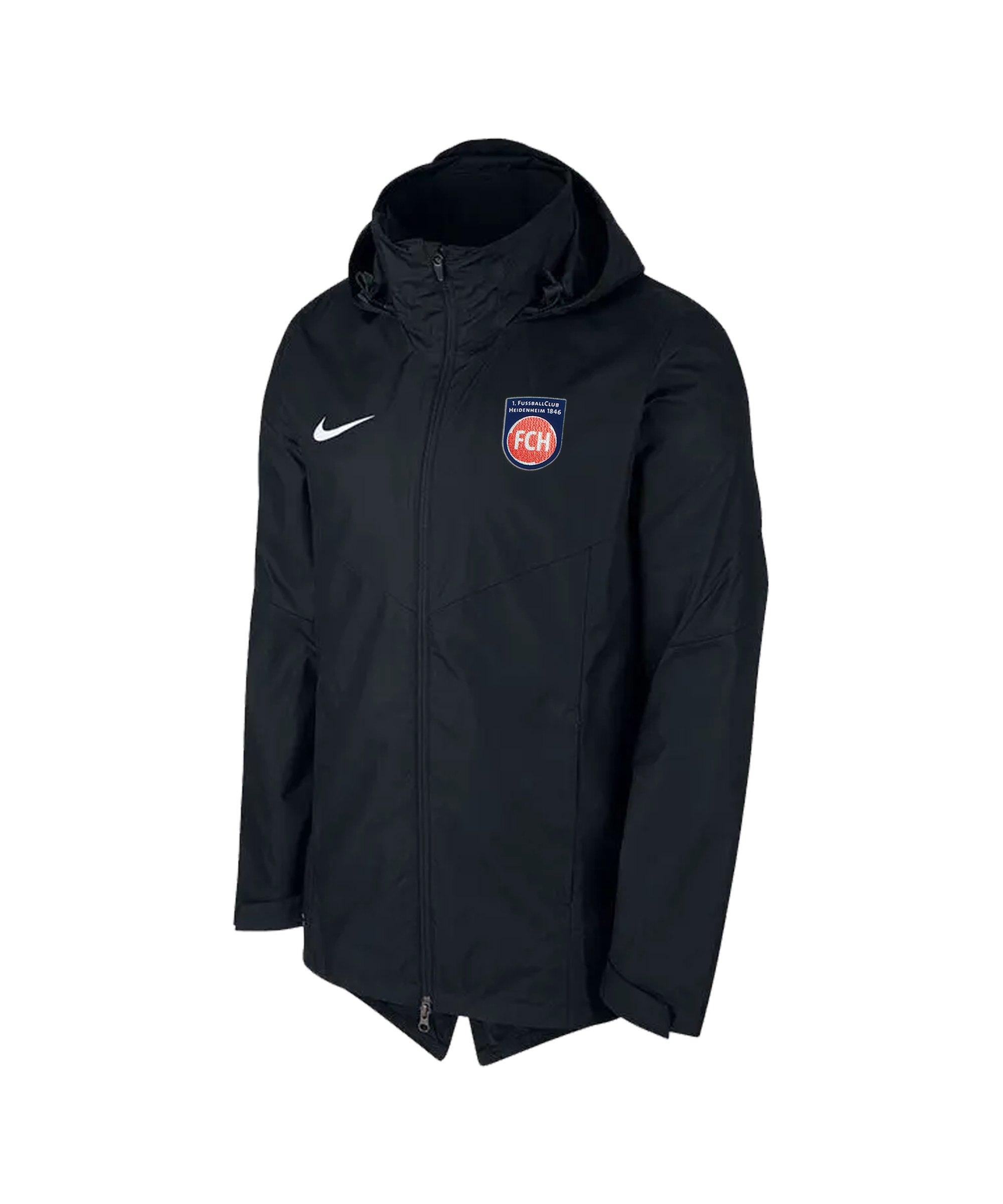 Nike 1. FC Heidenheim Regenjacke Kids Schwarz F010 - schwarz