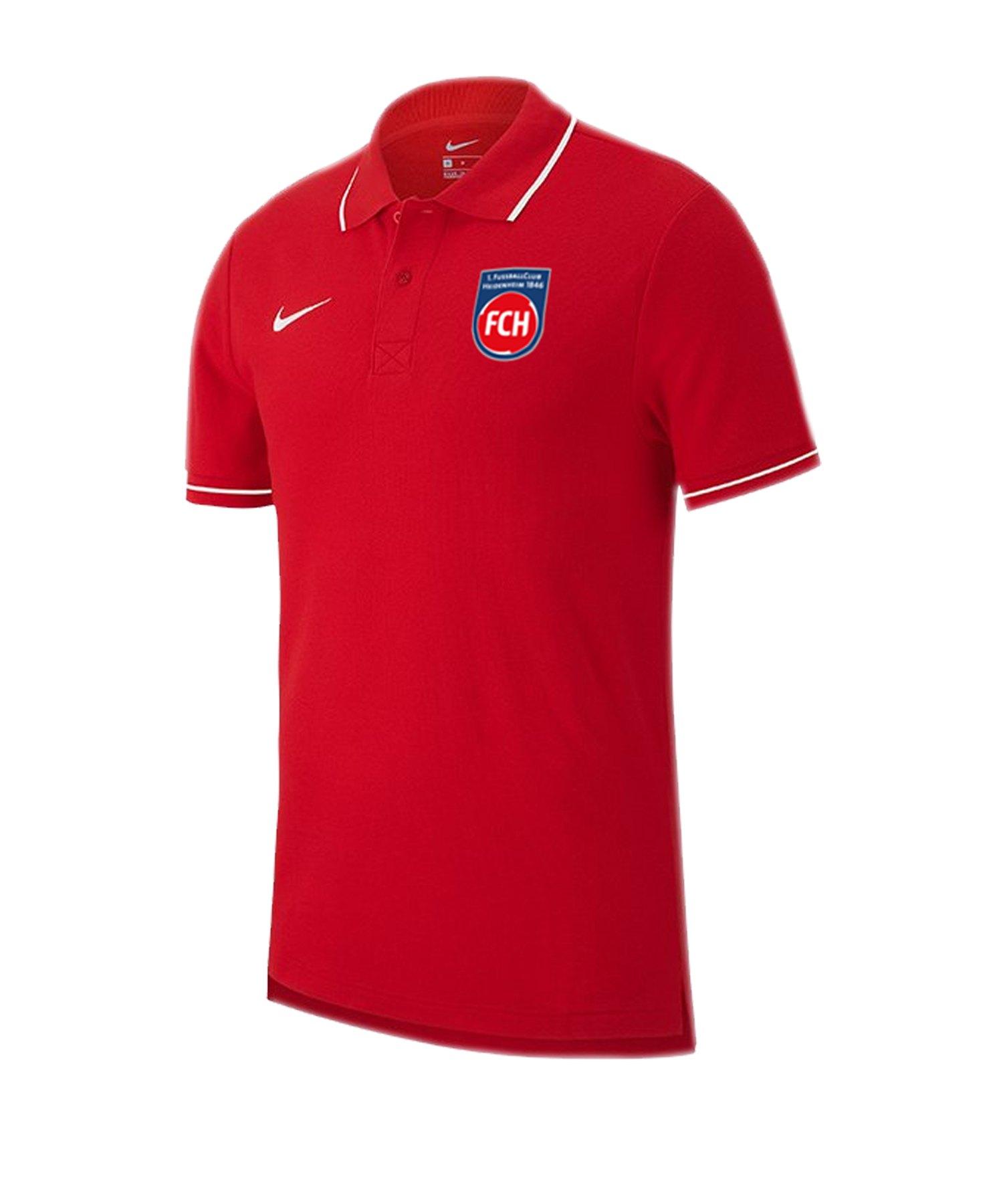 Nike 1. FC Heidenheim Poloshirt 2019/2020 Rot F657 - rot