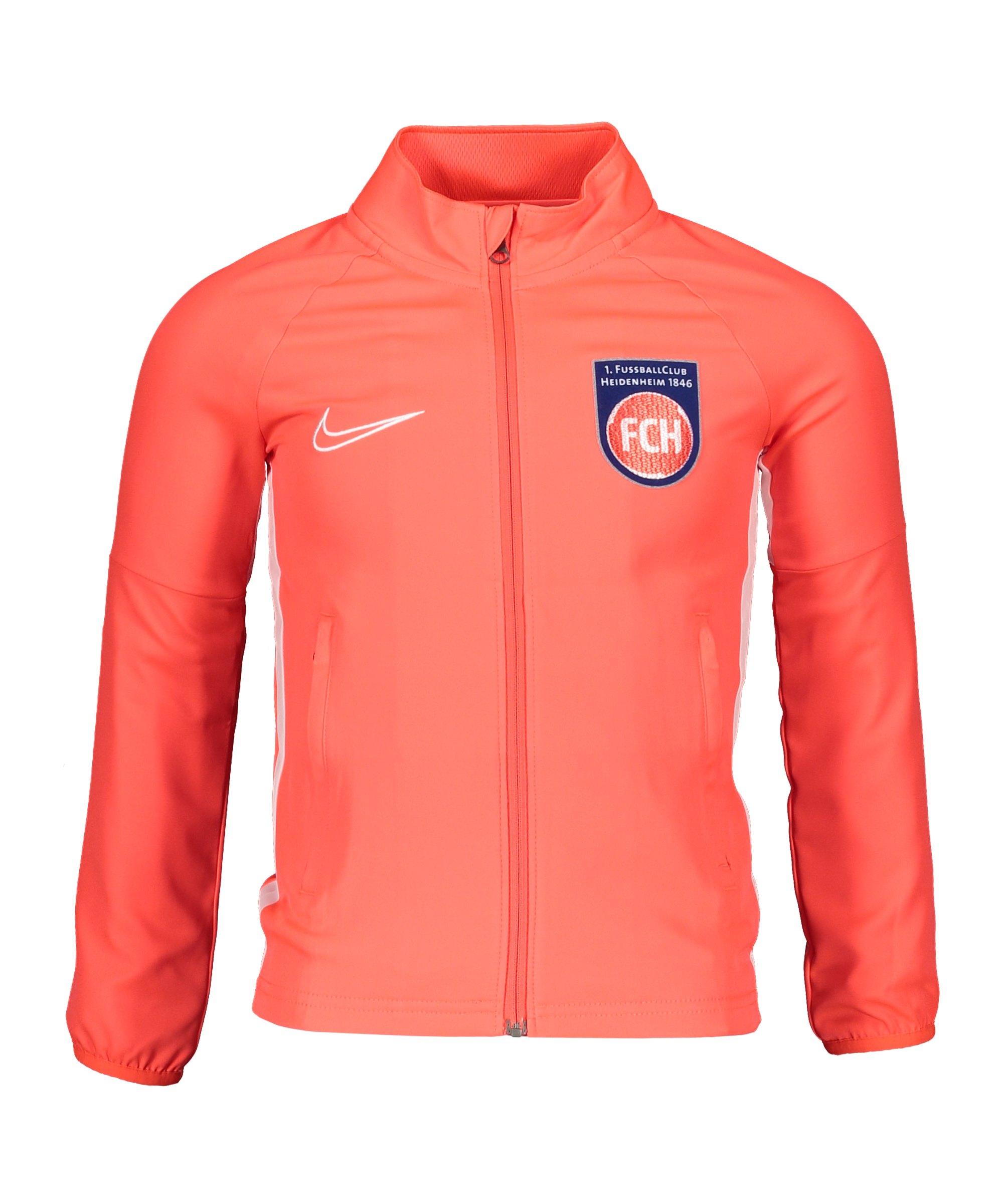 Nike 1. FC Heidenheim Trainingsjacke Kids Rot F671 - rot
