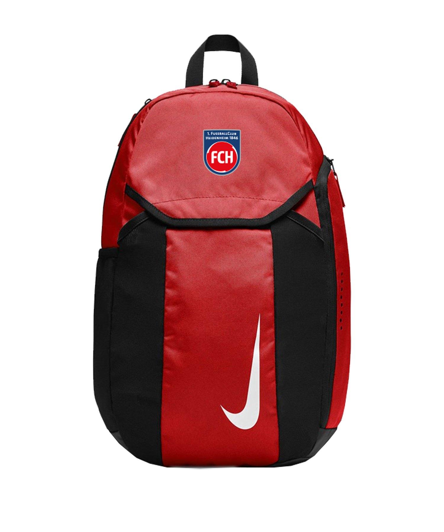 Nike 1. FC Heidenheim Rucksack Rot Schwarz F657 - rot