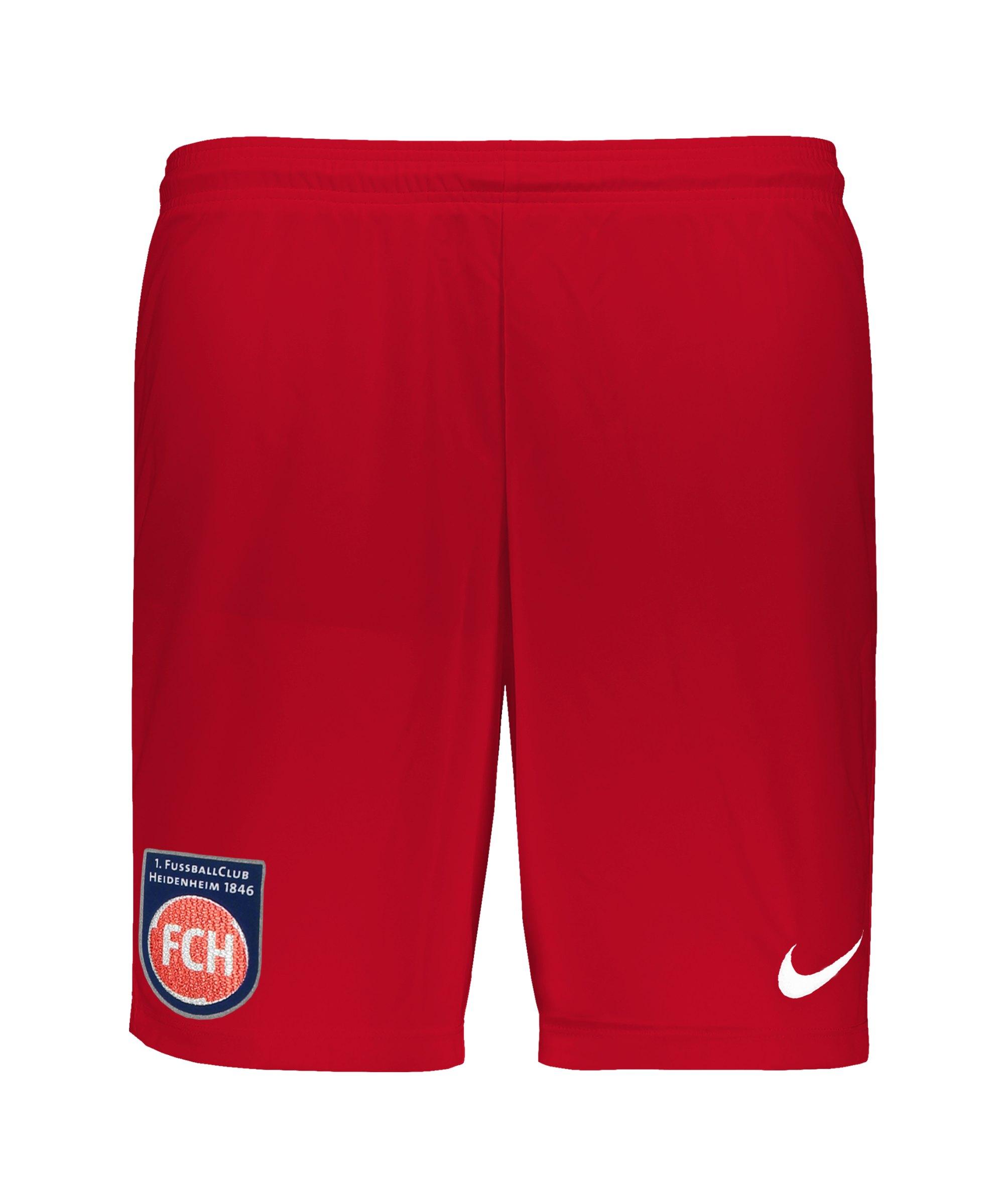 Nike 1. FC Heidenheim Short Home 21/22 Kids F657 - rot