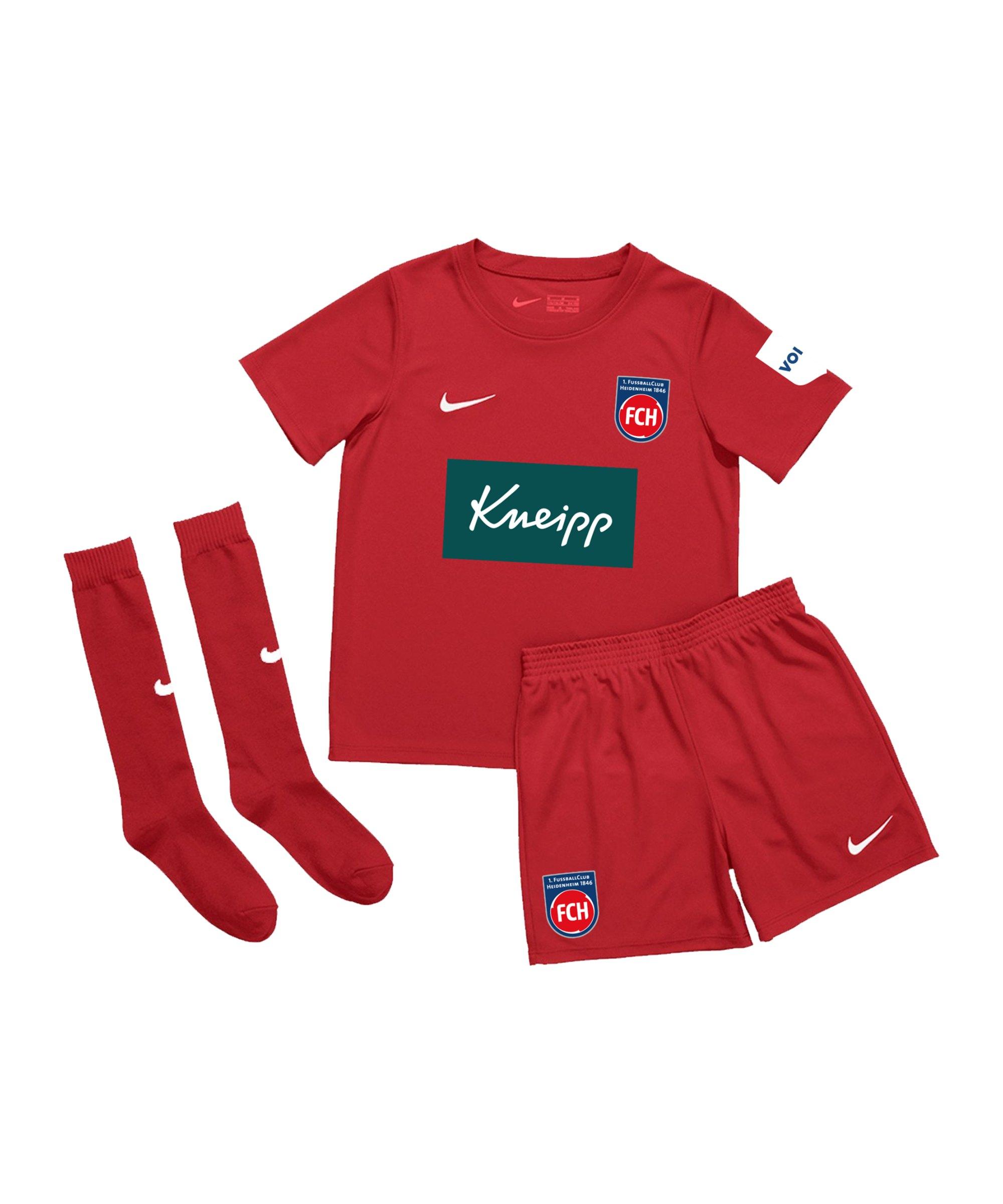 Nike 1. FC Heidenheim Minikit Home 2020/2021 F657 - rot