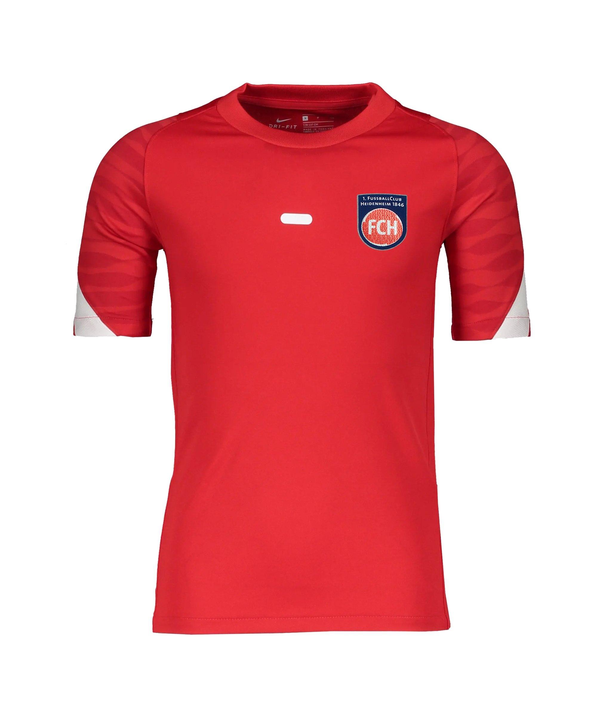 Nike 1. FC Heidenheim Trainingsshirt Kids Rot F657 - rot