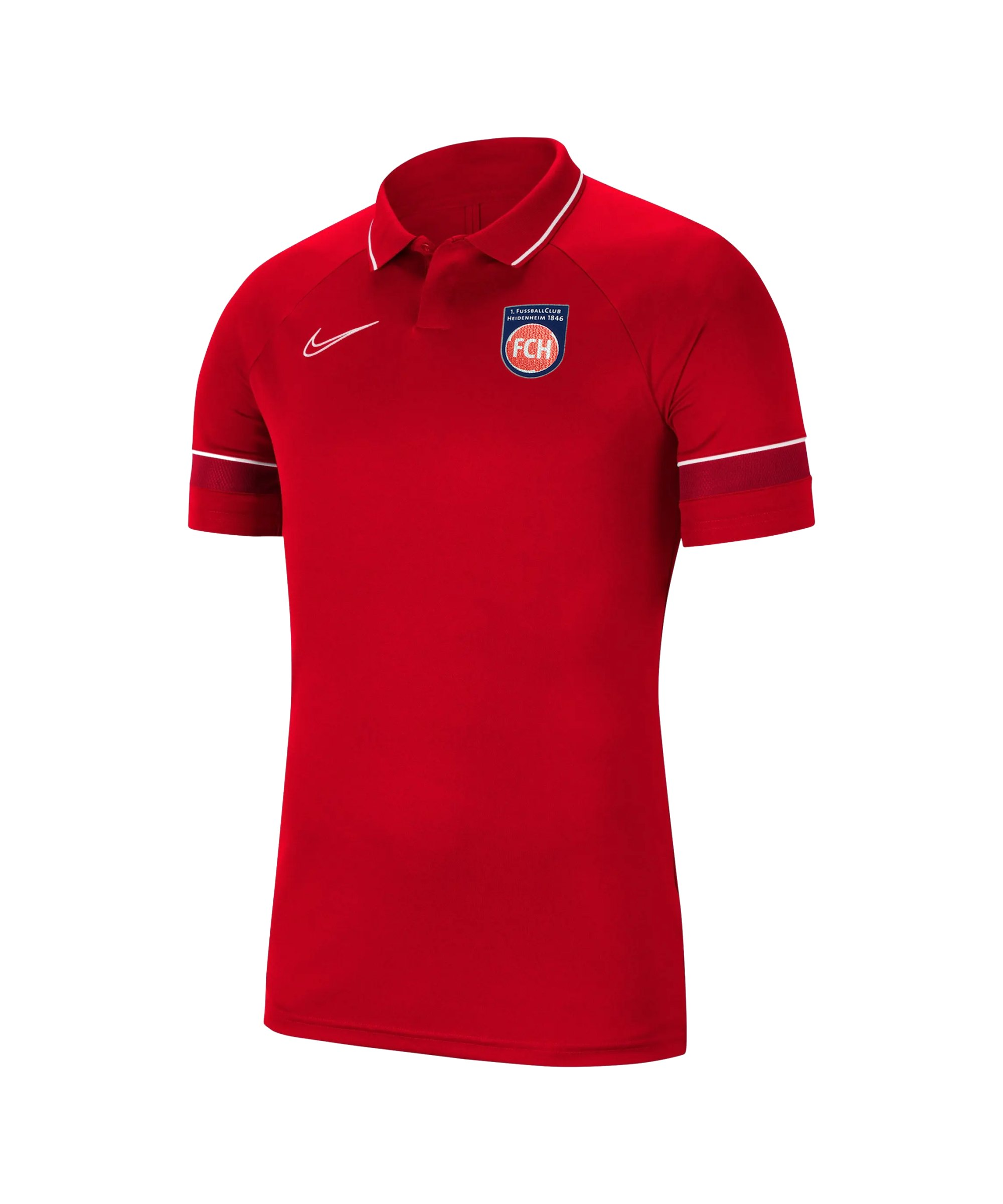 Nike 1. FC Heidenheim Polo Rot F657 - rot