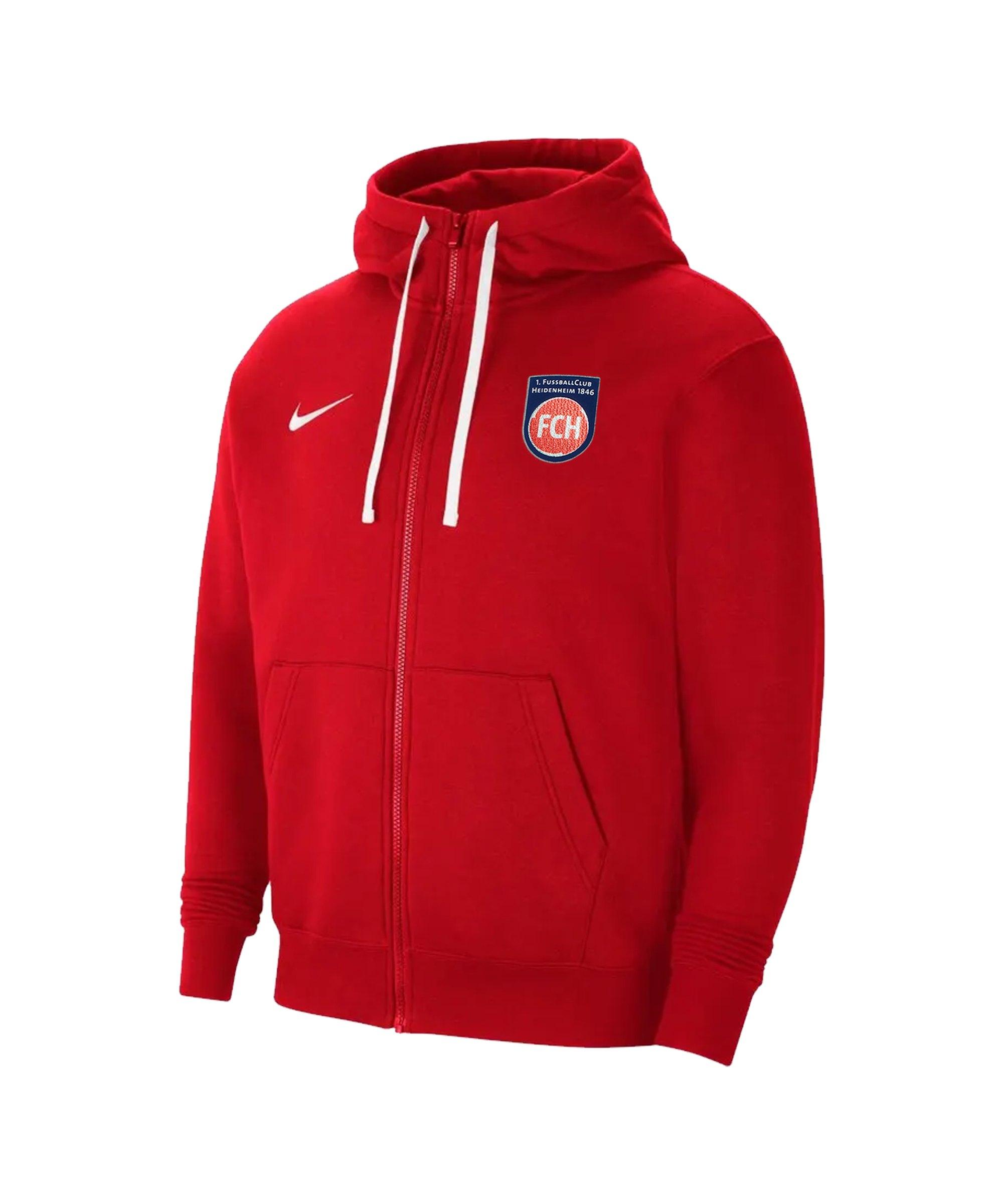 Nike 1. FC Heidenheim Kapuzenjacke Kids Rot F657 - rot
