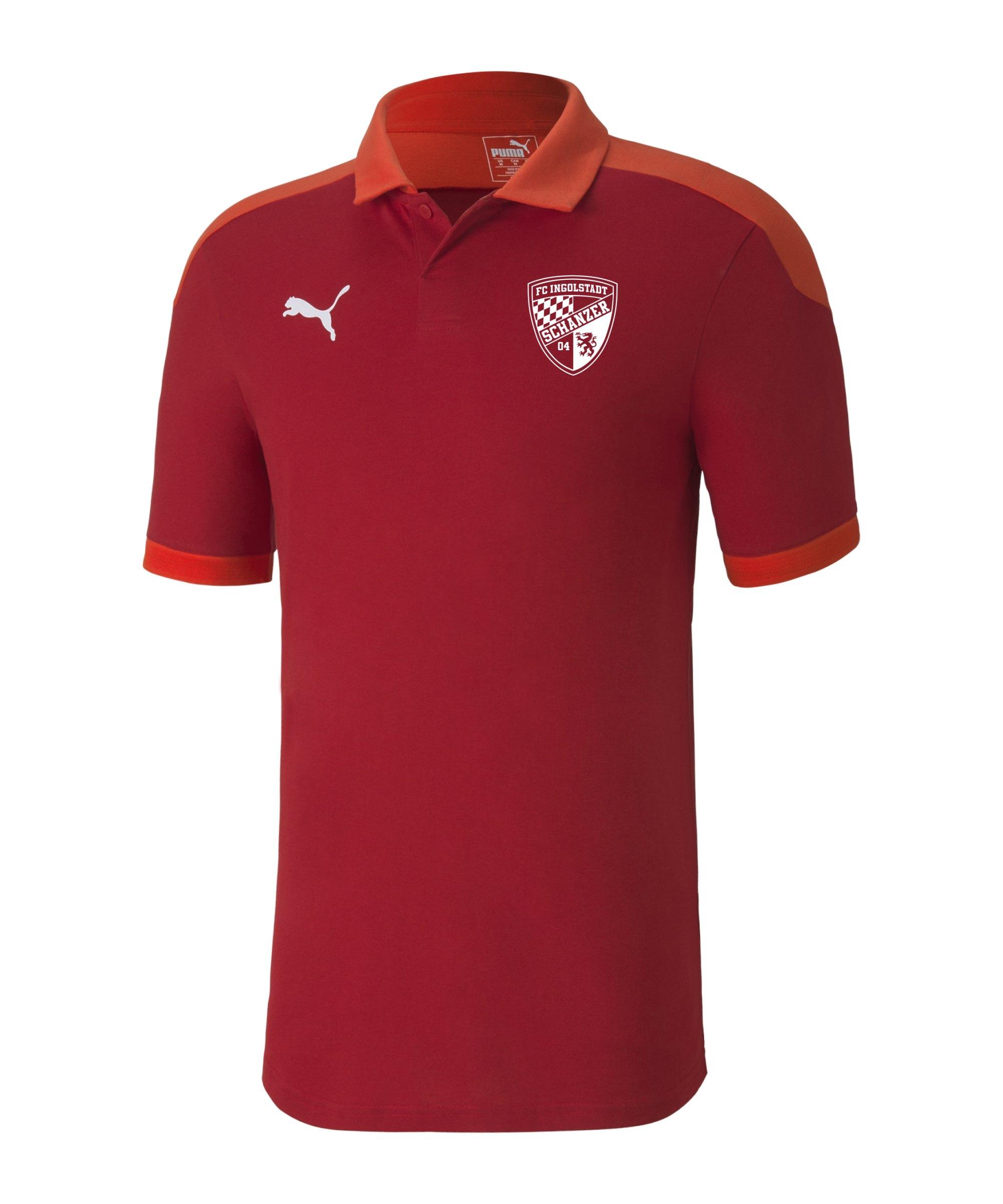 PUMA FC Ingolstadt 04 Poloshirt Rot F01 - rot