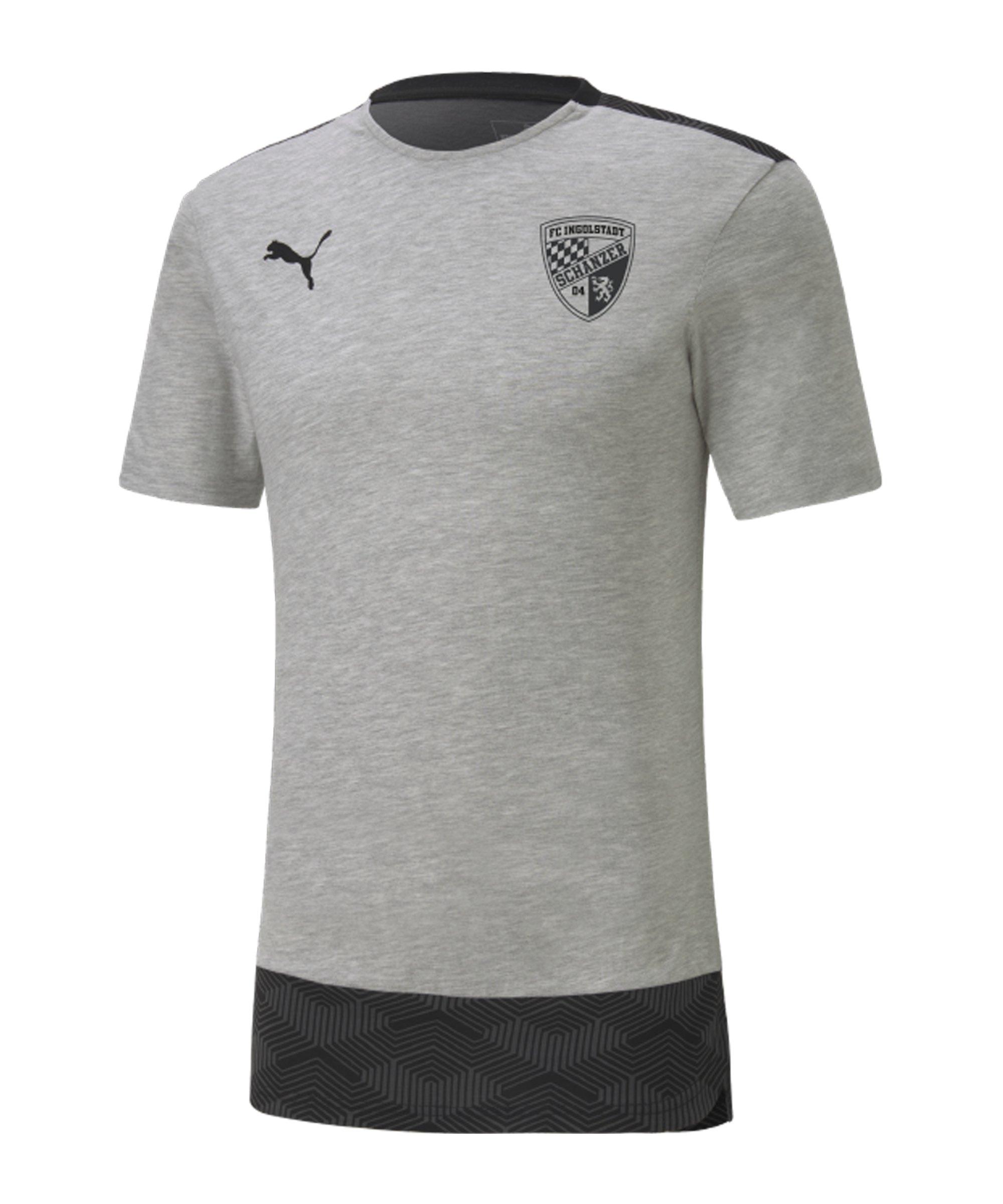PUMA FC Ingolstadt 04 T-Shirt Grau F37 - grau