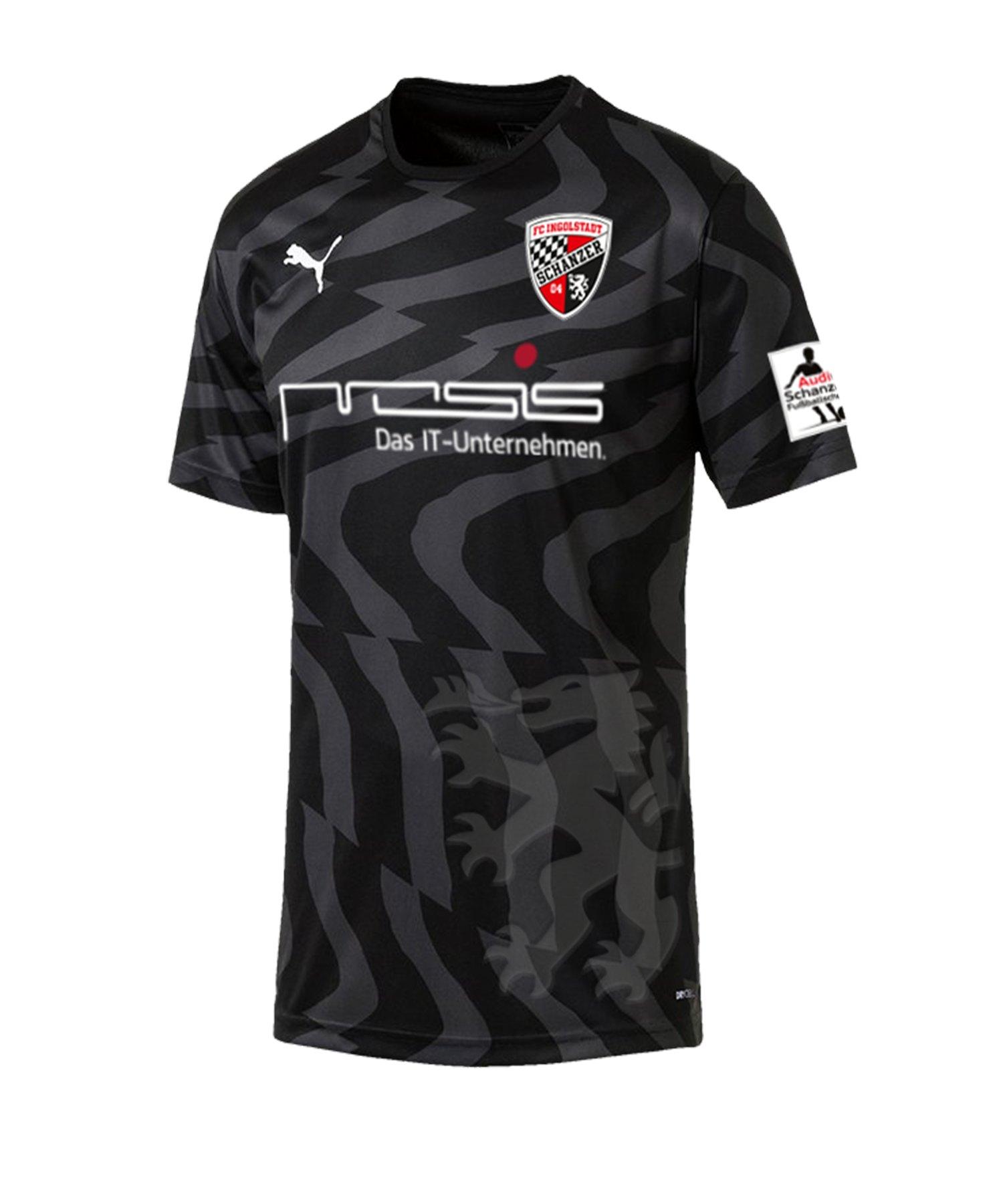 PUMA FC Ingolstadt 04 Trikot Away 2019/2020 Kids Schwarz F03 - schwarz