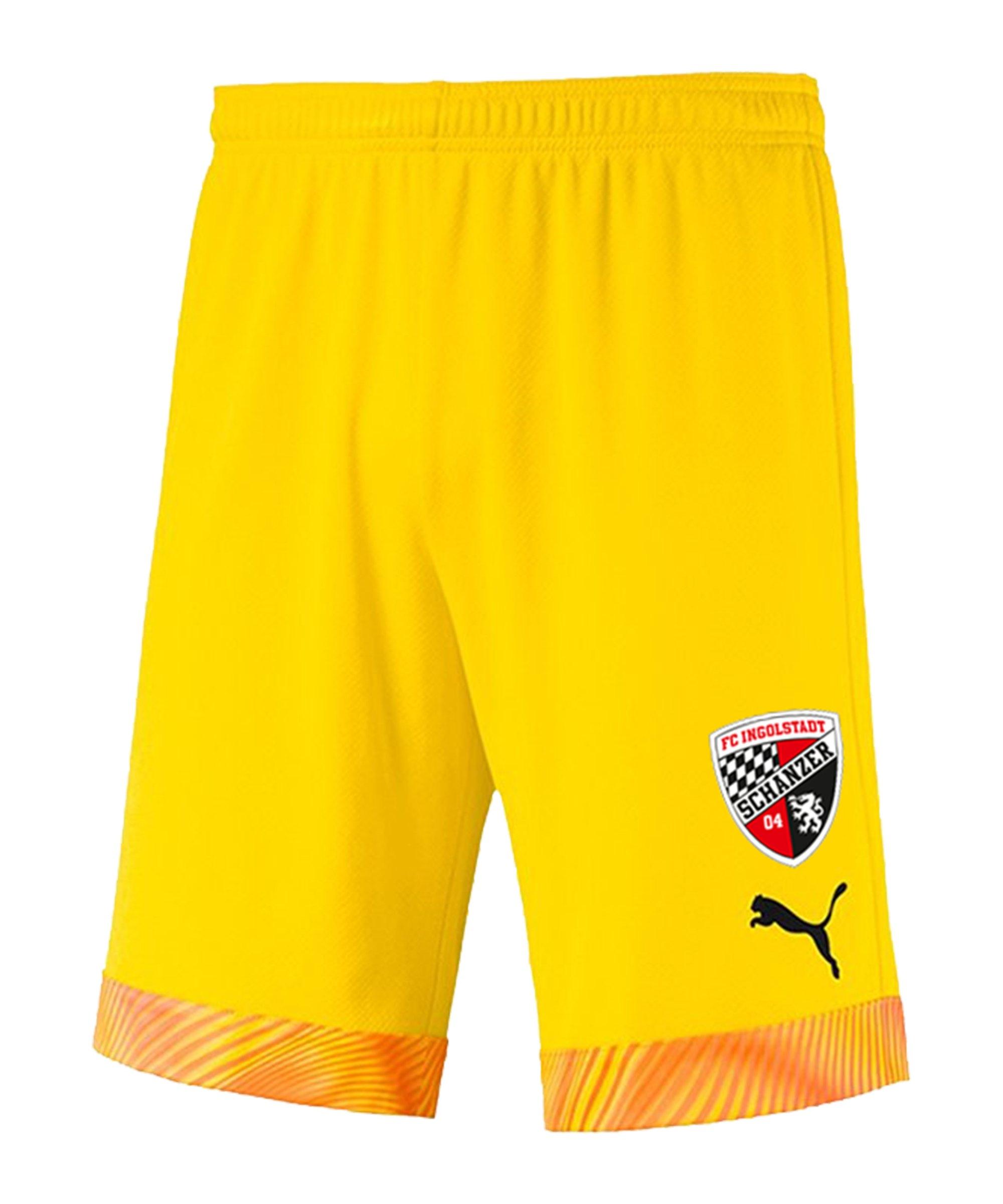 PUMA FC Ingolstadt 04 Torwartshort 2020/2021 Kids Gelb F45 - gelb